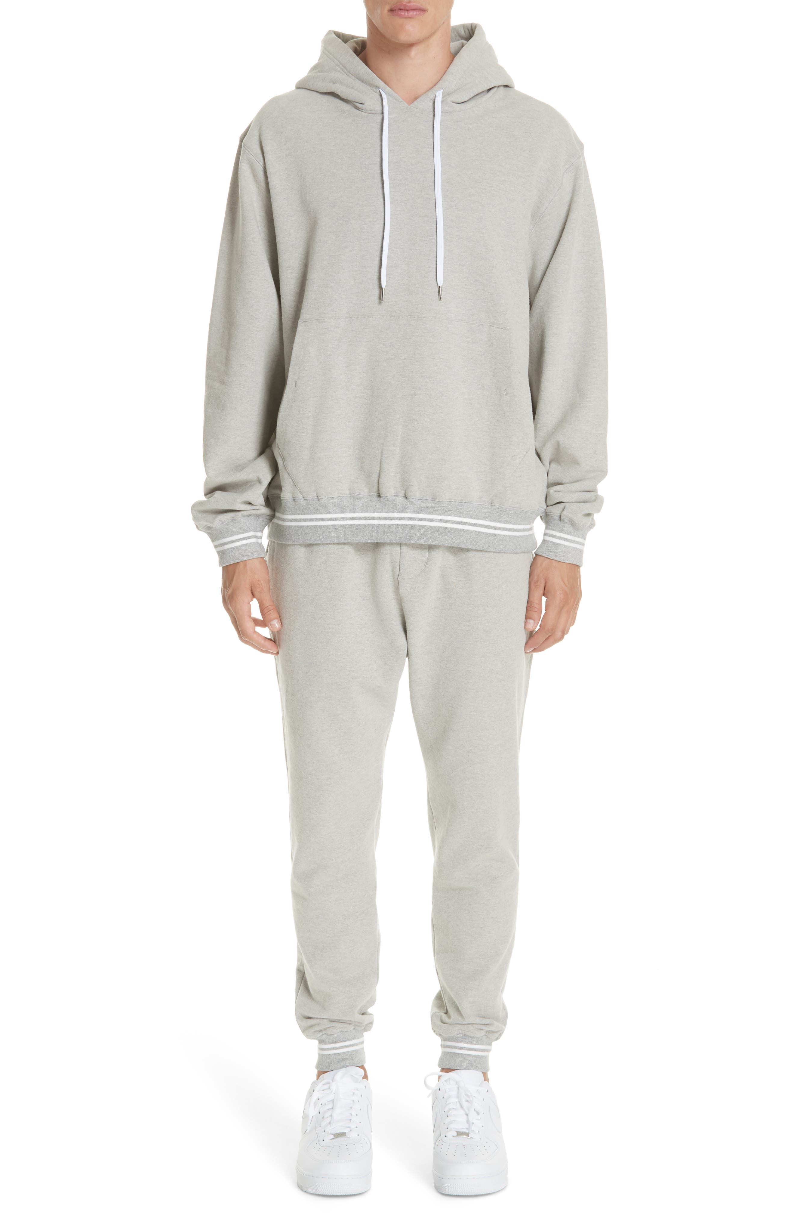 Oversize Hoodie,                             Alternate thumbnail 7, color,                             HEATHER GREY