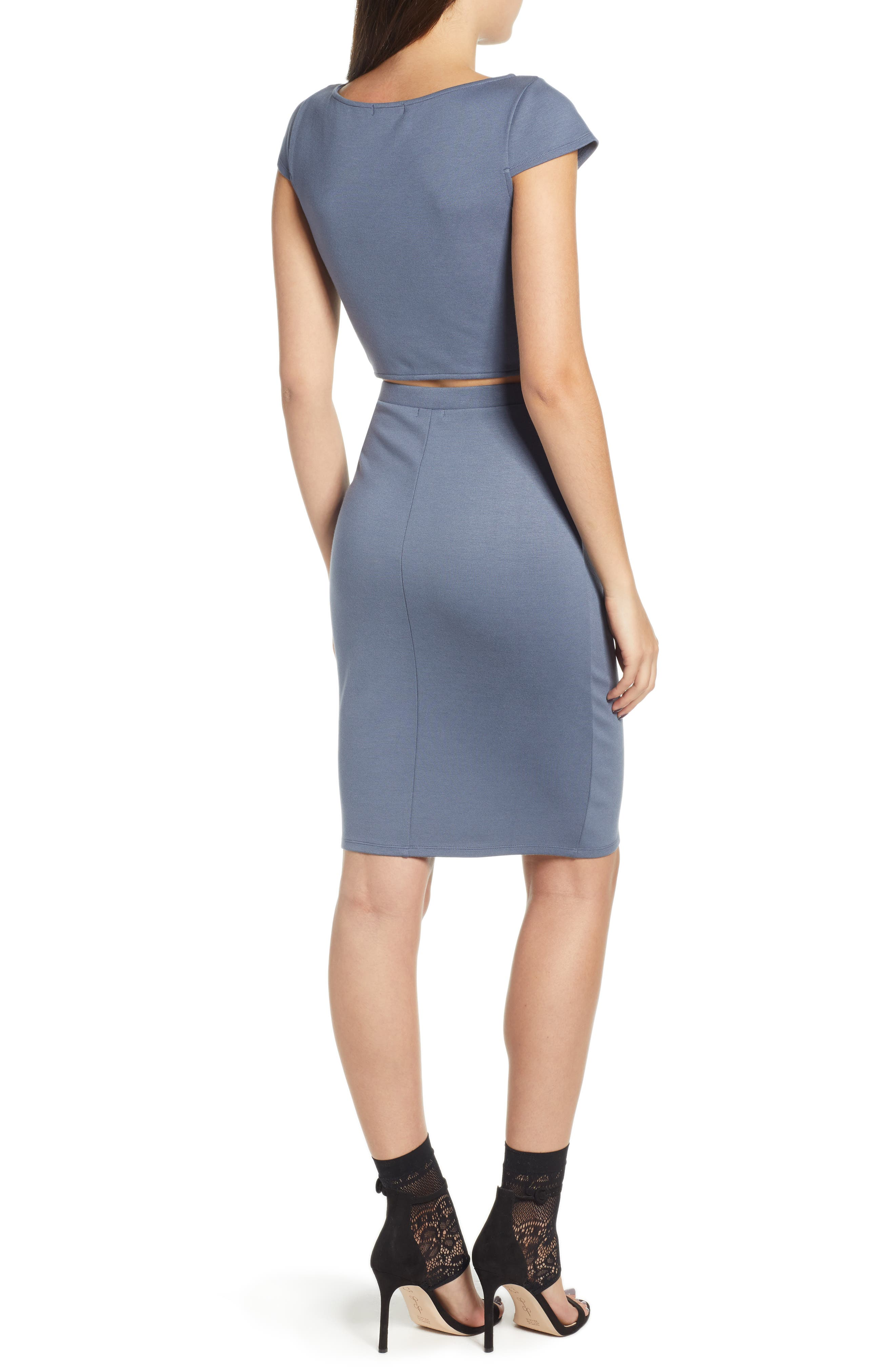Pencil Skirt,                             Alternate thumbnail 8, color,                             GREY GRISAILLE