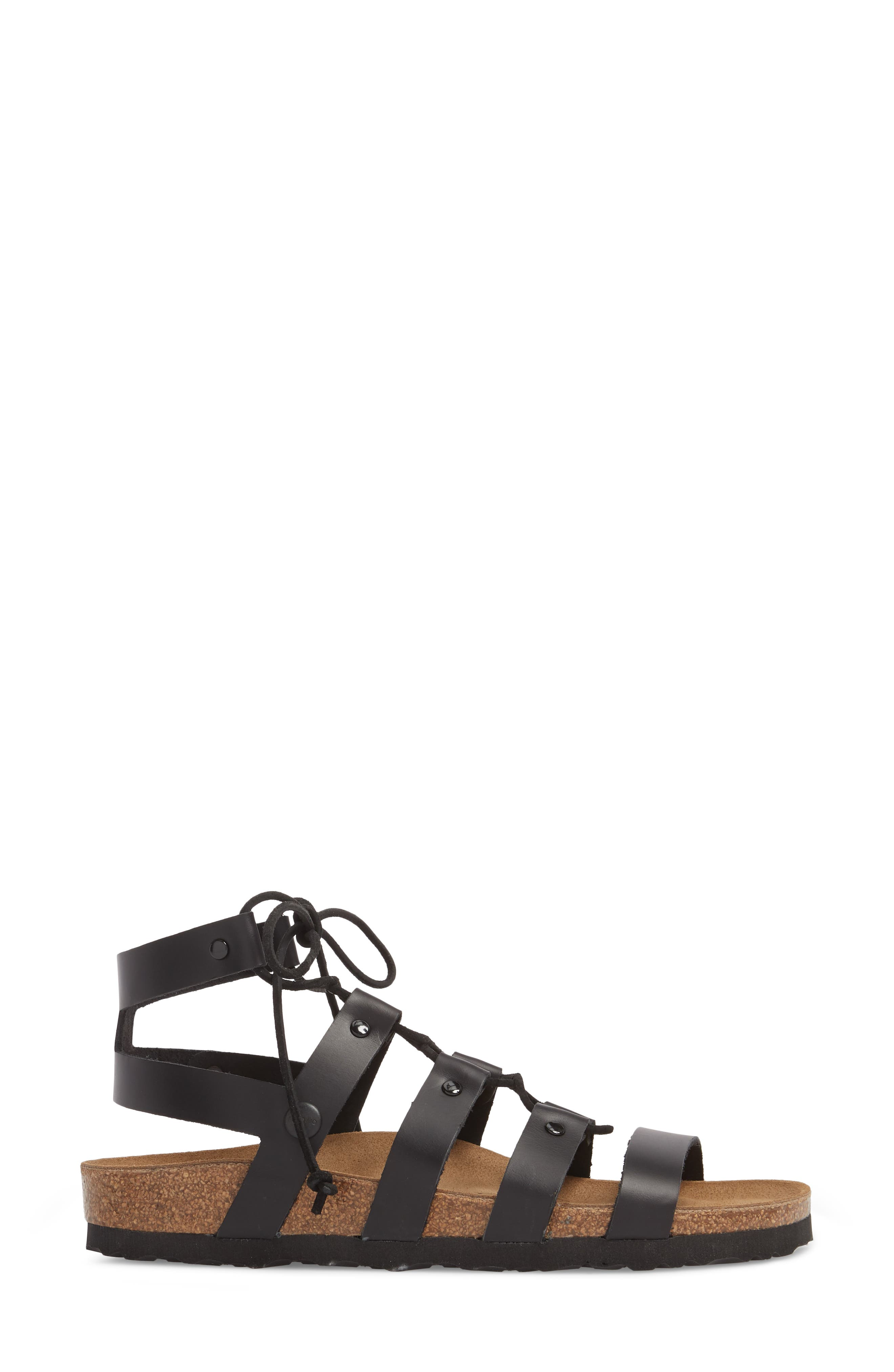 Papillio by Birkenstock Cleo Gladiator Sandal,                             Alternate thumbnail 3, color,                             001