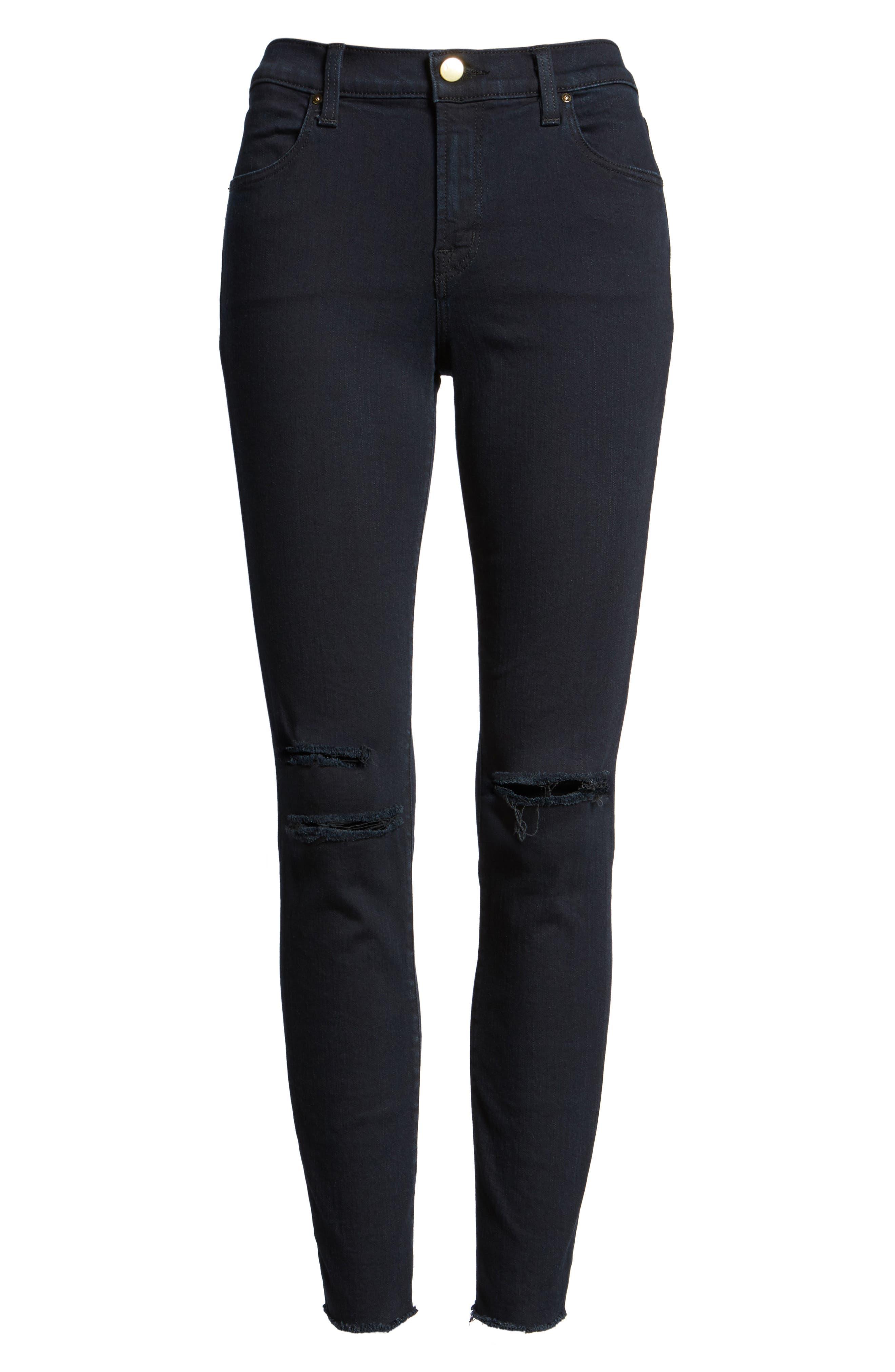 8227 Destroyed Crop Skinny Ankle Jeans,                             Alternate thumbnail 6, color,                             407
