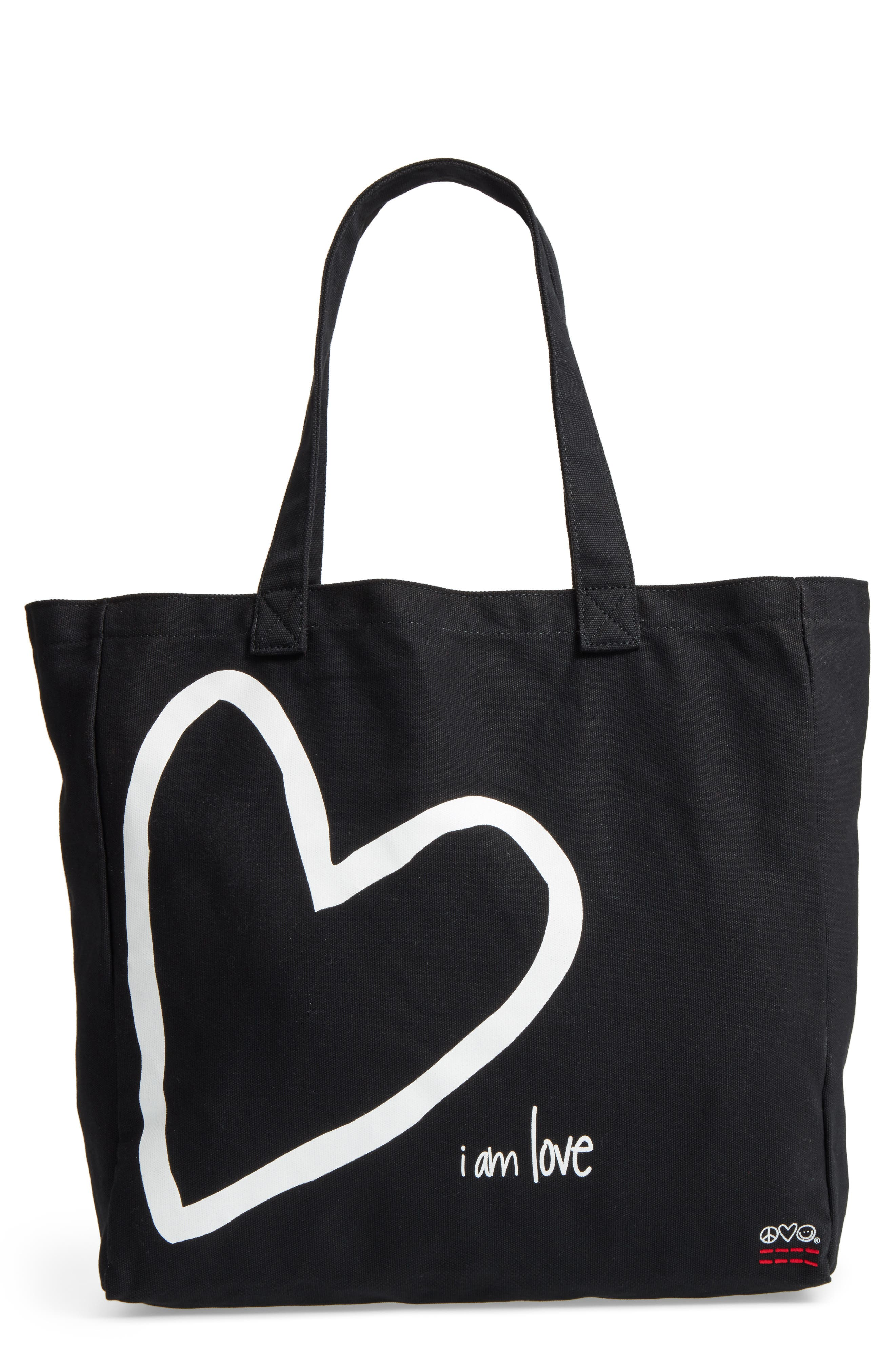 Oversized Canvas Tote,                             Main thumbnail 2, color,
