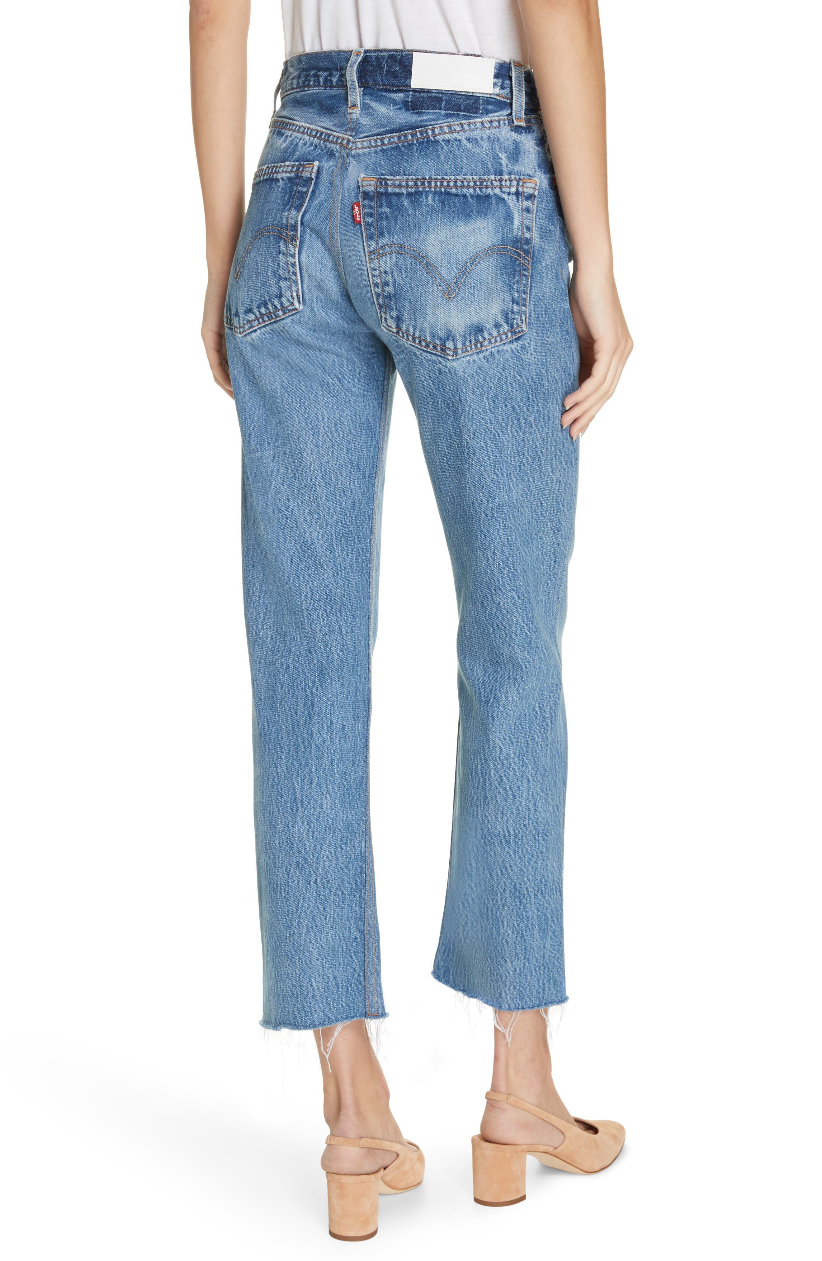 High Waist Stovepipe Jeans,                             Alternate thumbnail 2, color,                             INDIGO