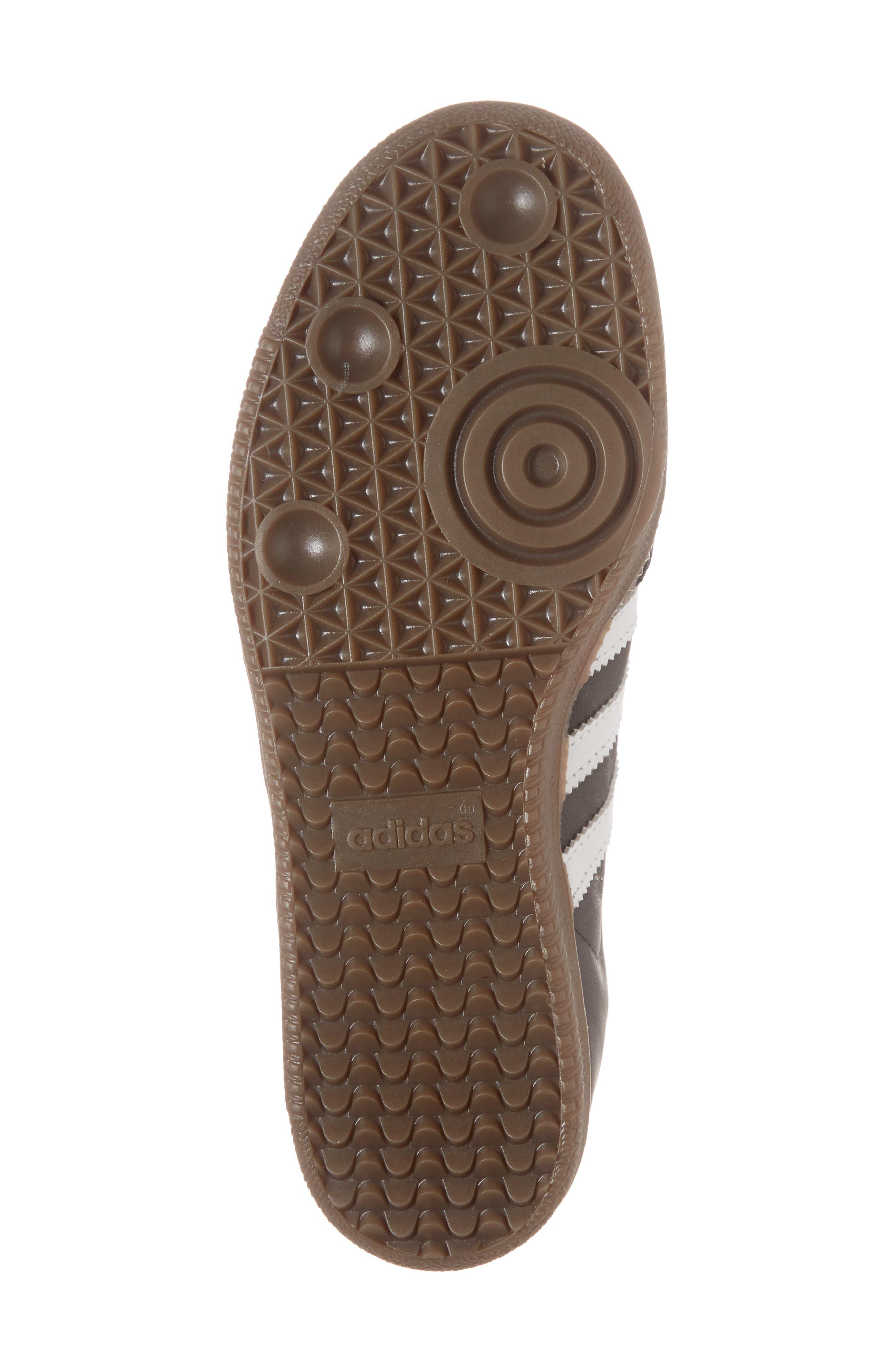 'Samba' Sneaker,                             Alternate thumbnail 6, color,                             BLACK/ WHITE/ GUM5