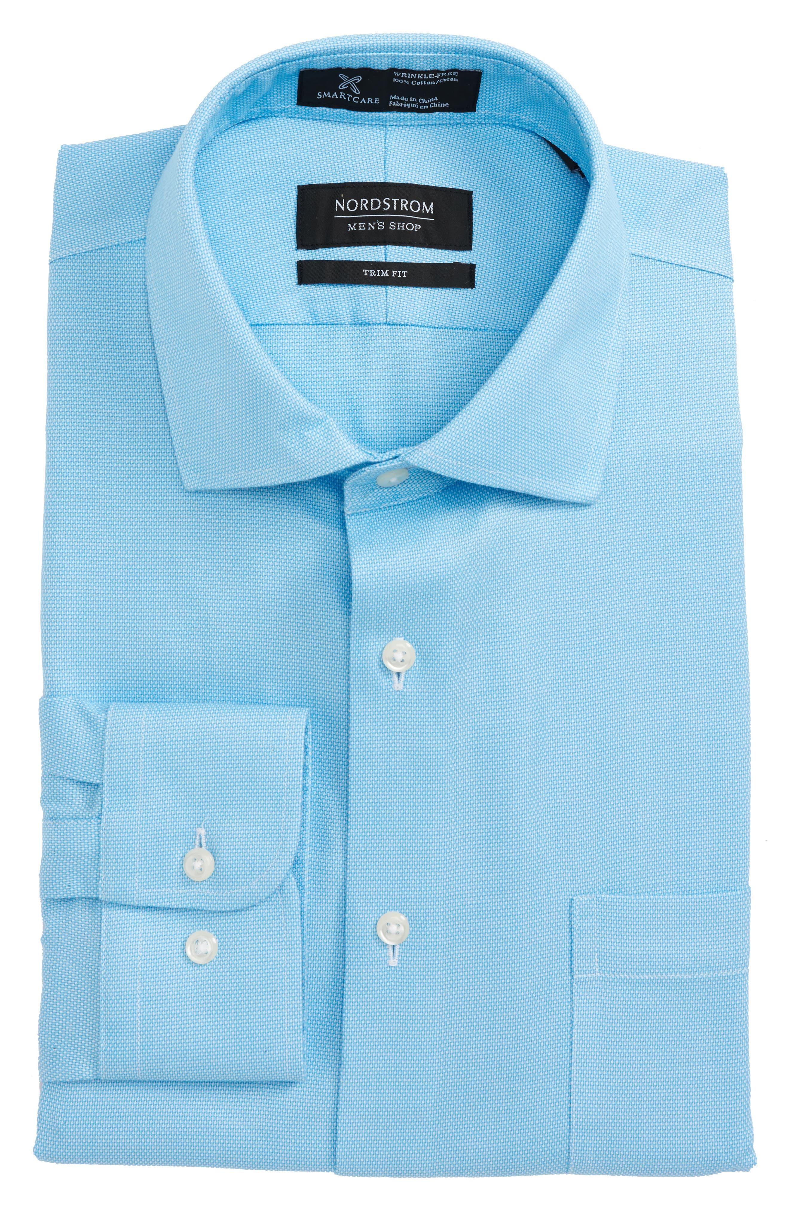 Smartcare<sup>™</sup> Trim Fit Oxford Dress Shirt,                             Main thumbnail 3, color,
