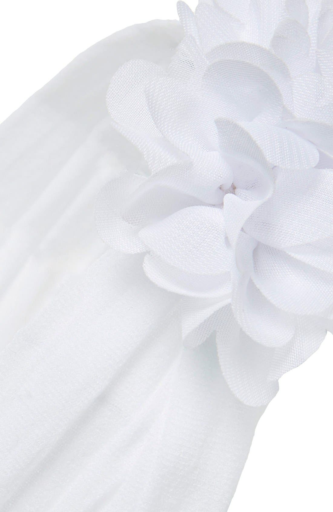 Chiffon Ruffle Headband,                             Alternate thumbnail 2, color,                             WHITE
