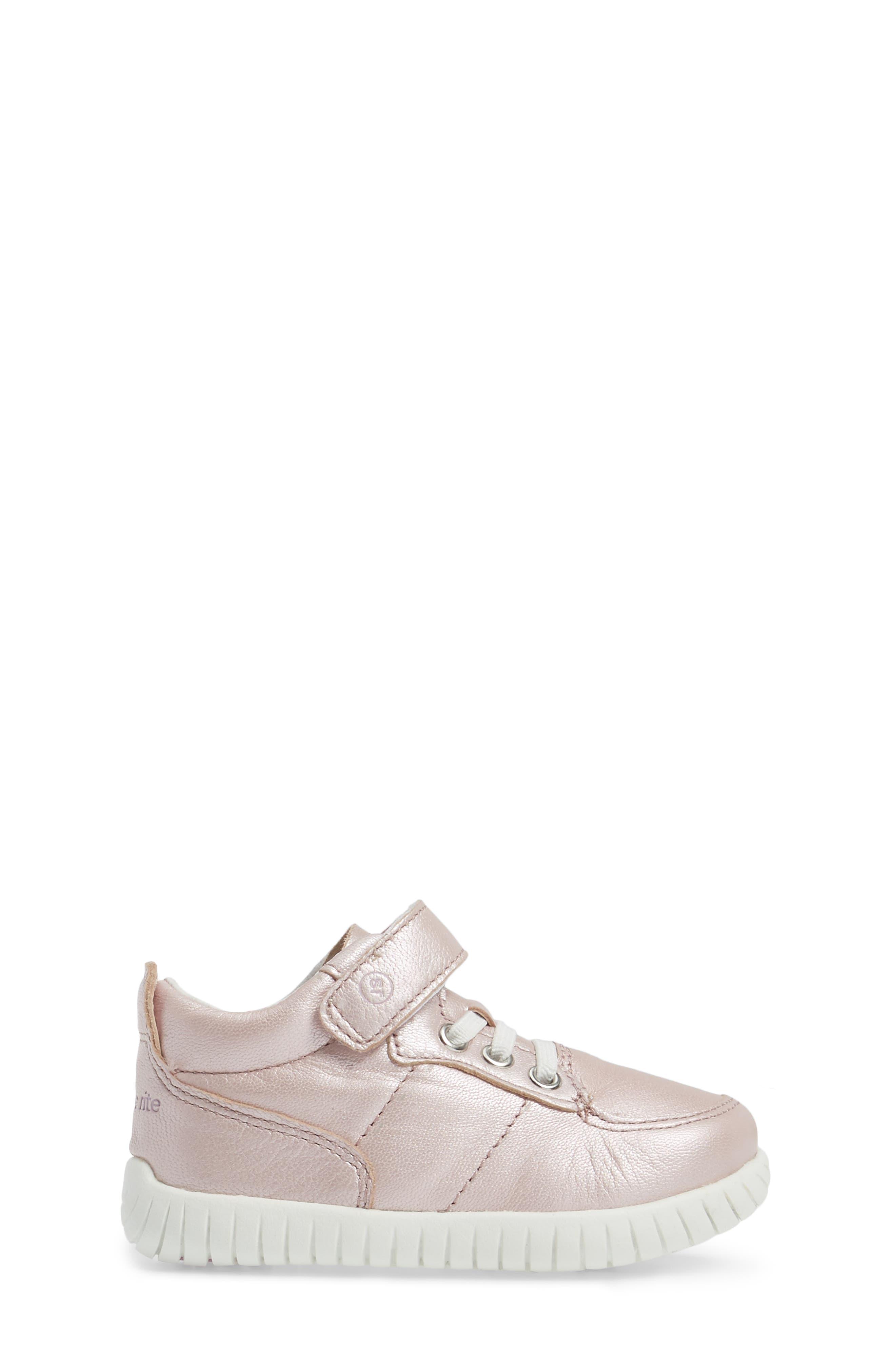 Bailey High Top Sneaker,                             Alternate thumbnail 3, color,                             PINK METALLIC