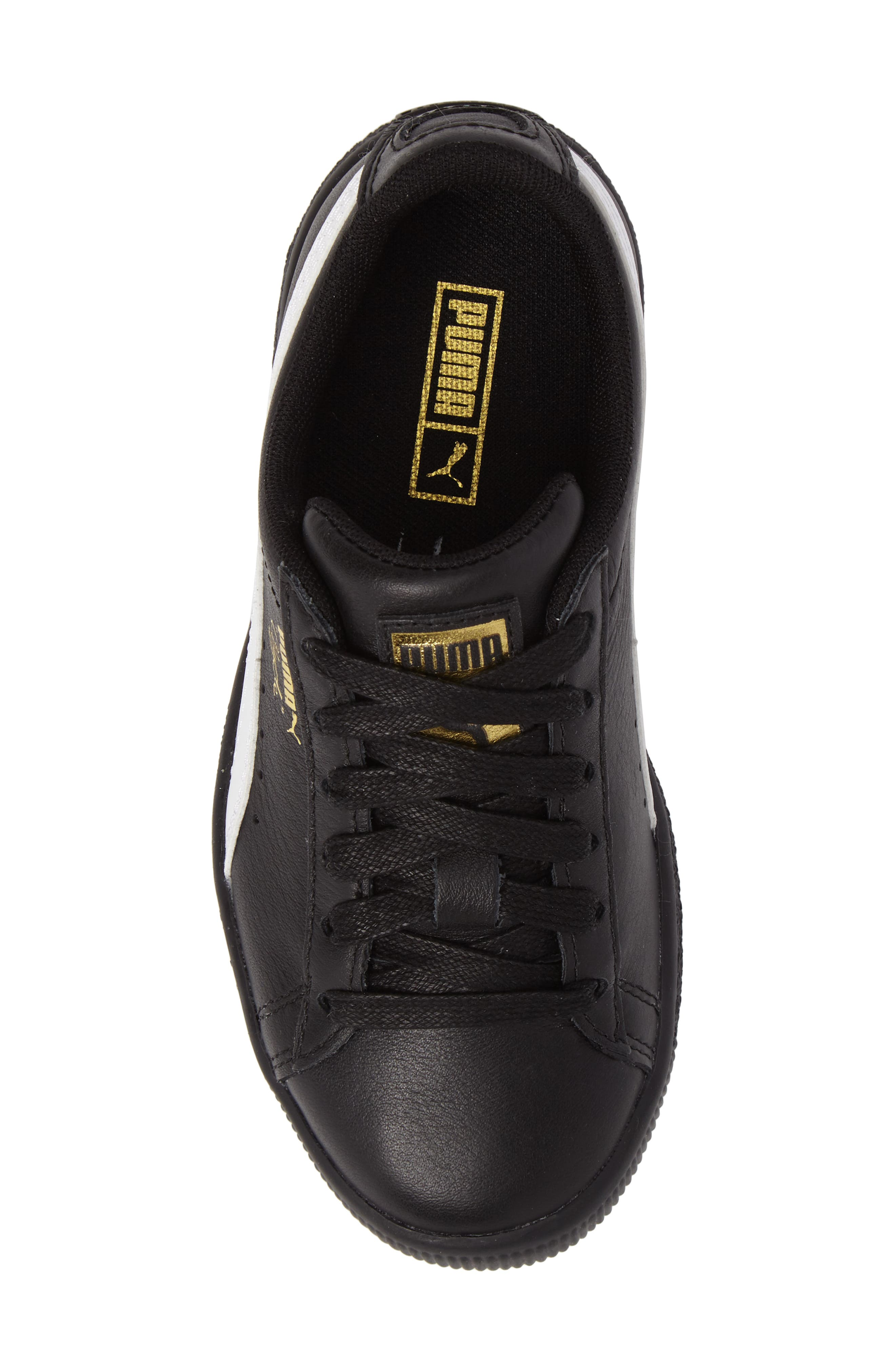 Clyde Core Foil Sneaker,                             Alternate thumbnail 5, color,                             001