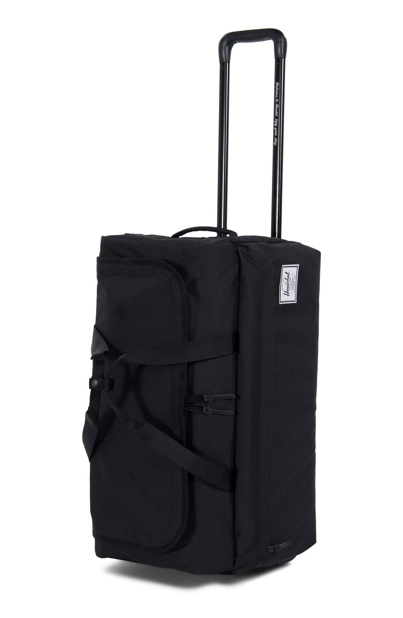 24-Inch Wheelie Rolling Carry-On,                             Main thumbnail 1, color,                             BLACK