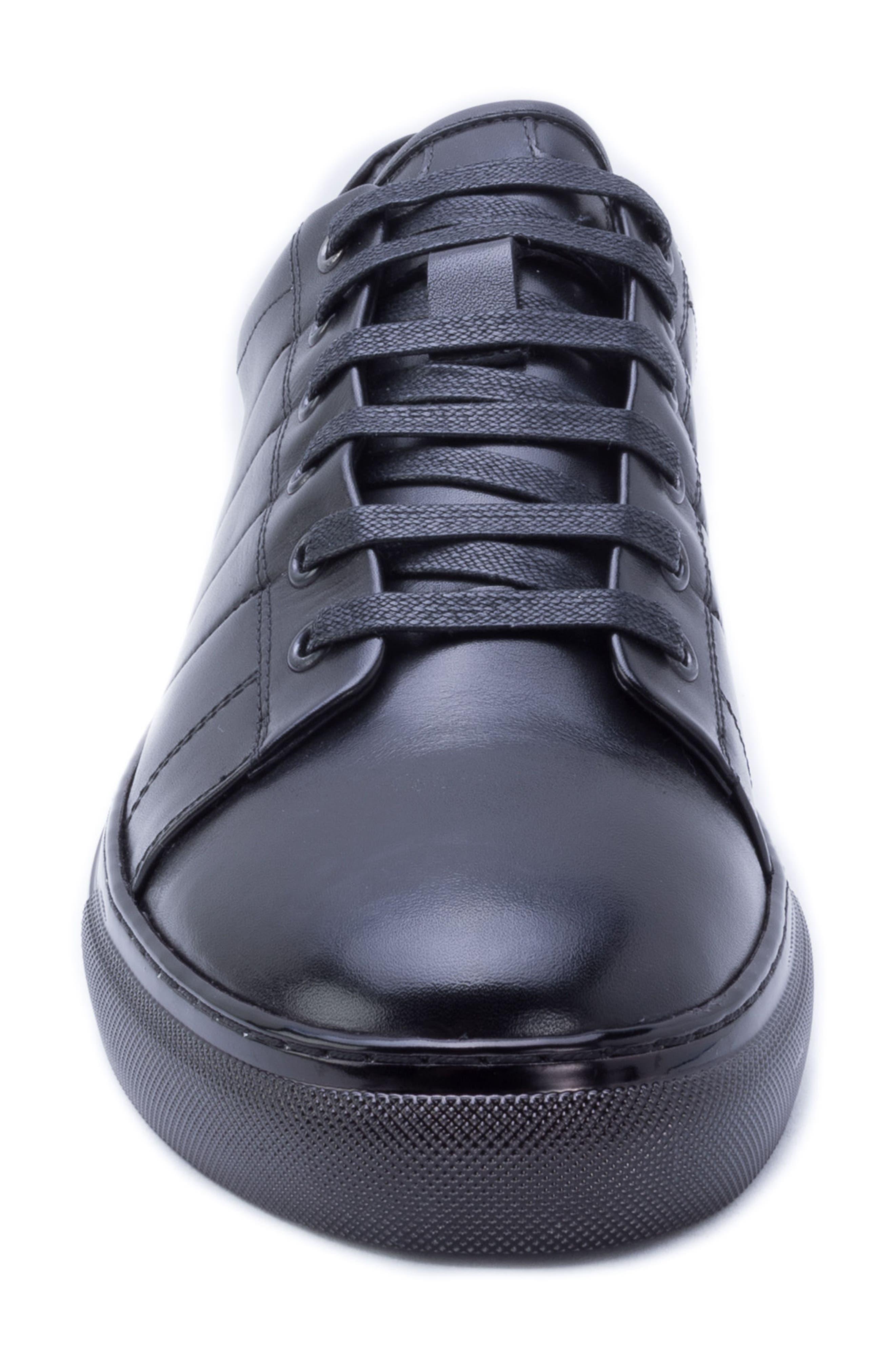 Hackman Sneaker,                             Alternate thumbnail 4, color,                             BLACK LEATHER