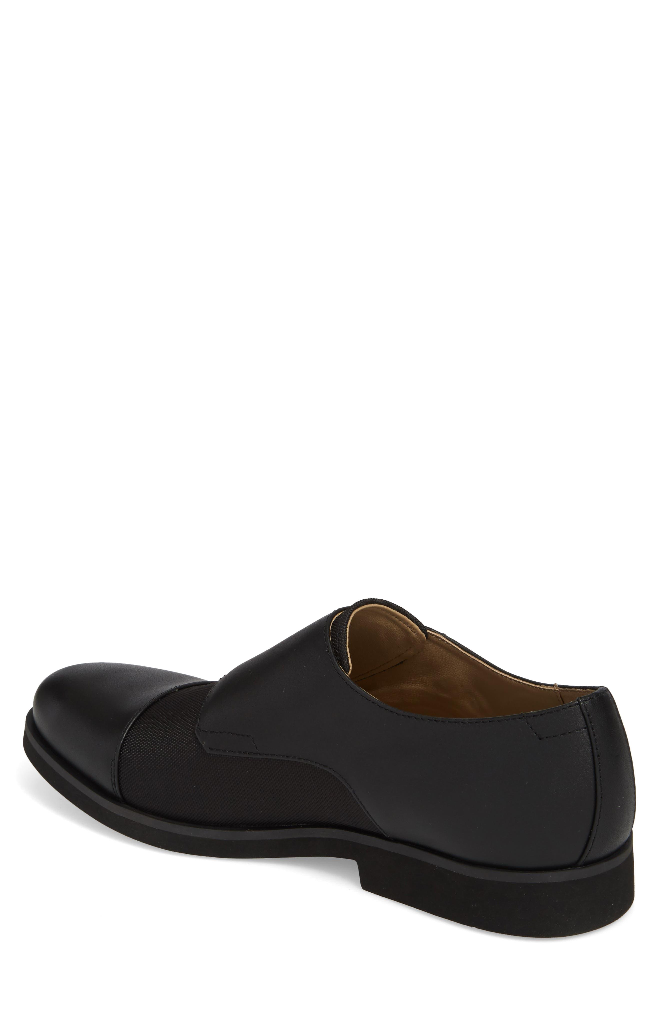 Finch Double Monk Strap Shoe,                             Alternate thumbnail 2, color,                             001