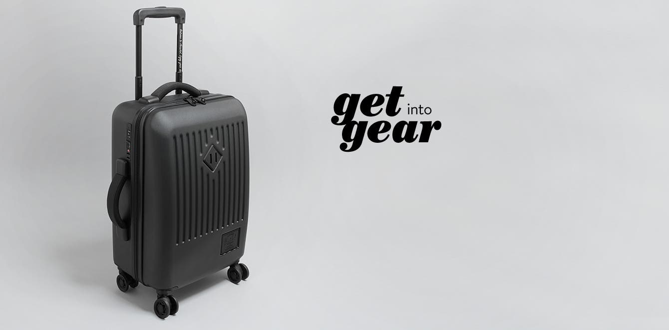 Get into gear: Herschel Supply Co. Small Trade Power Rolling Suitcase.