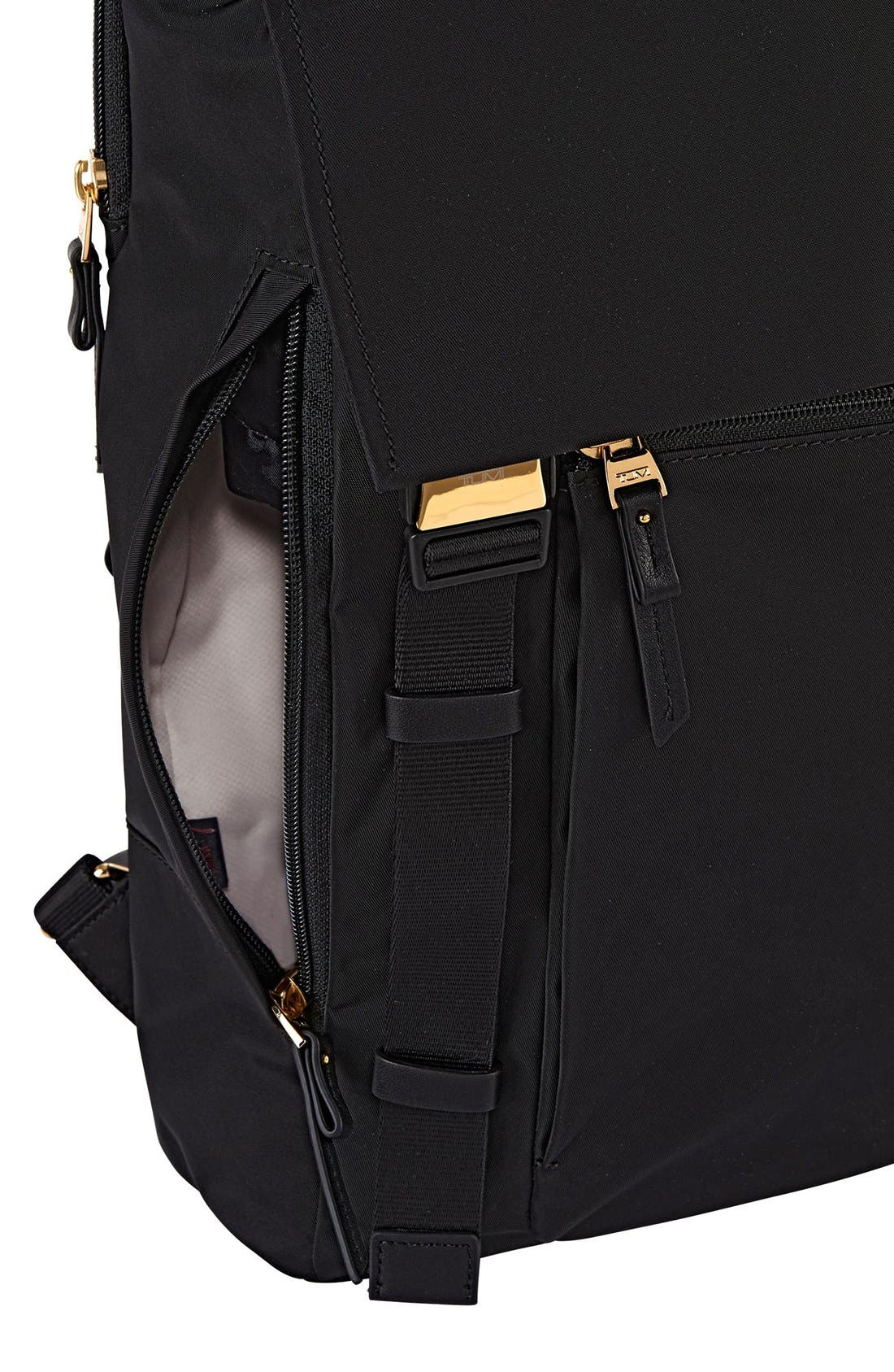 'Voyageur - Sacha' Flap Backpack,                             Alternate thumbnail 4, color,                             001