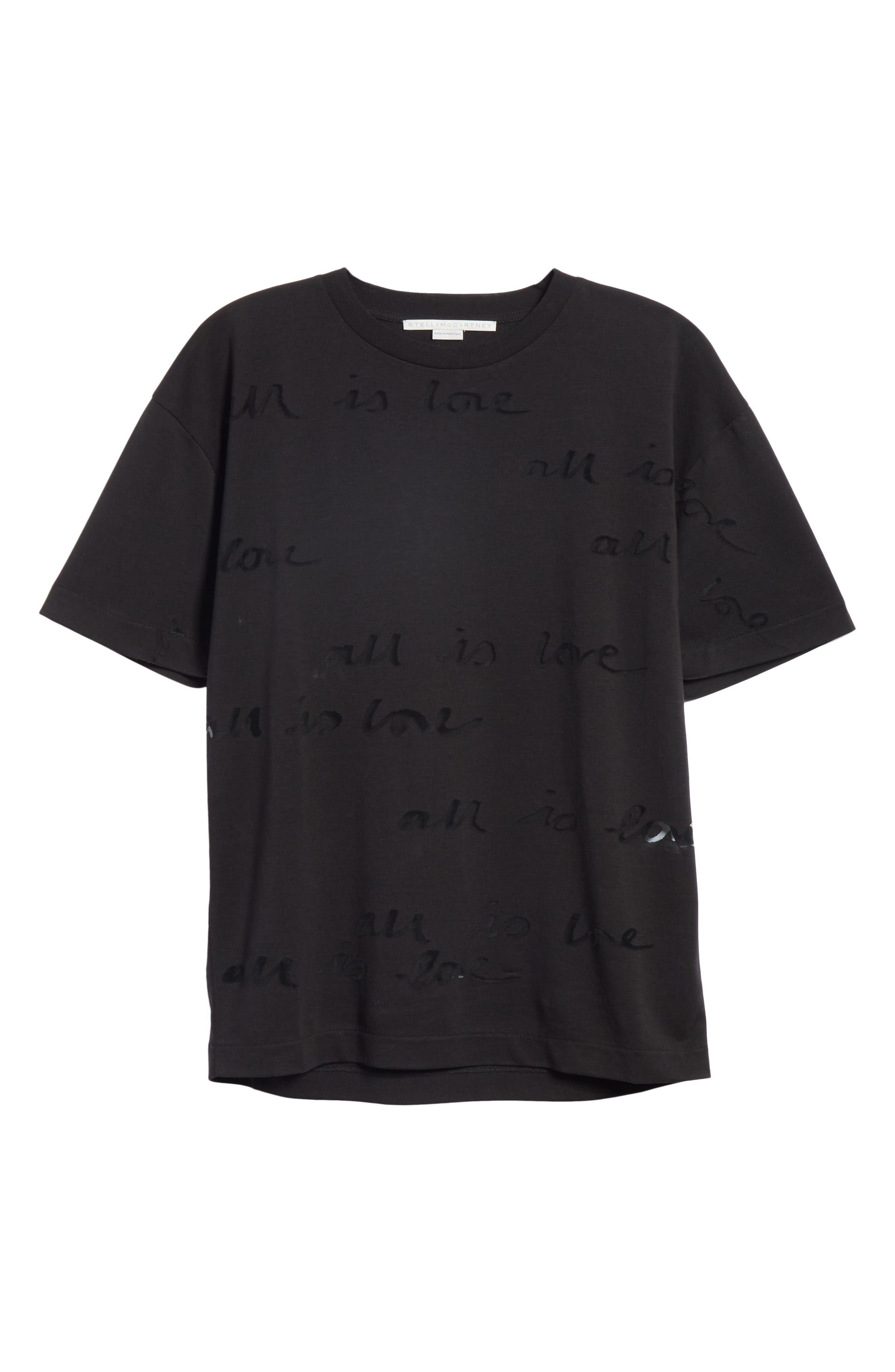 All Is Love See Through Graphic Tee,                             Alternate thumbnail 6, color,                             001
