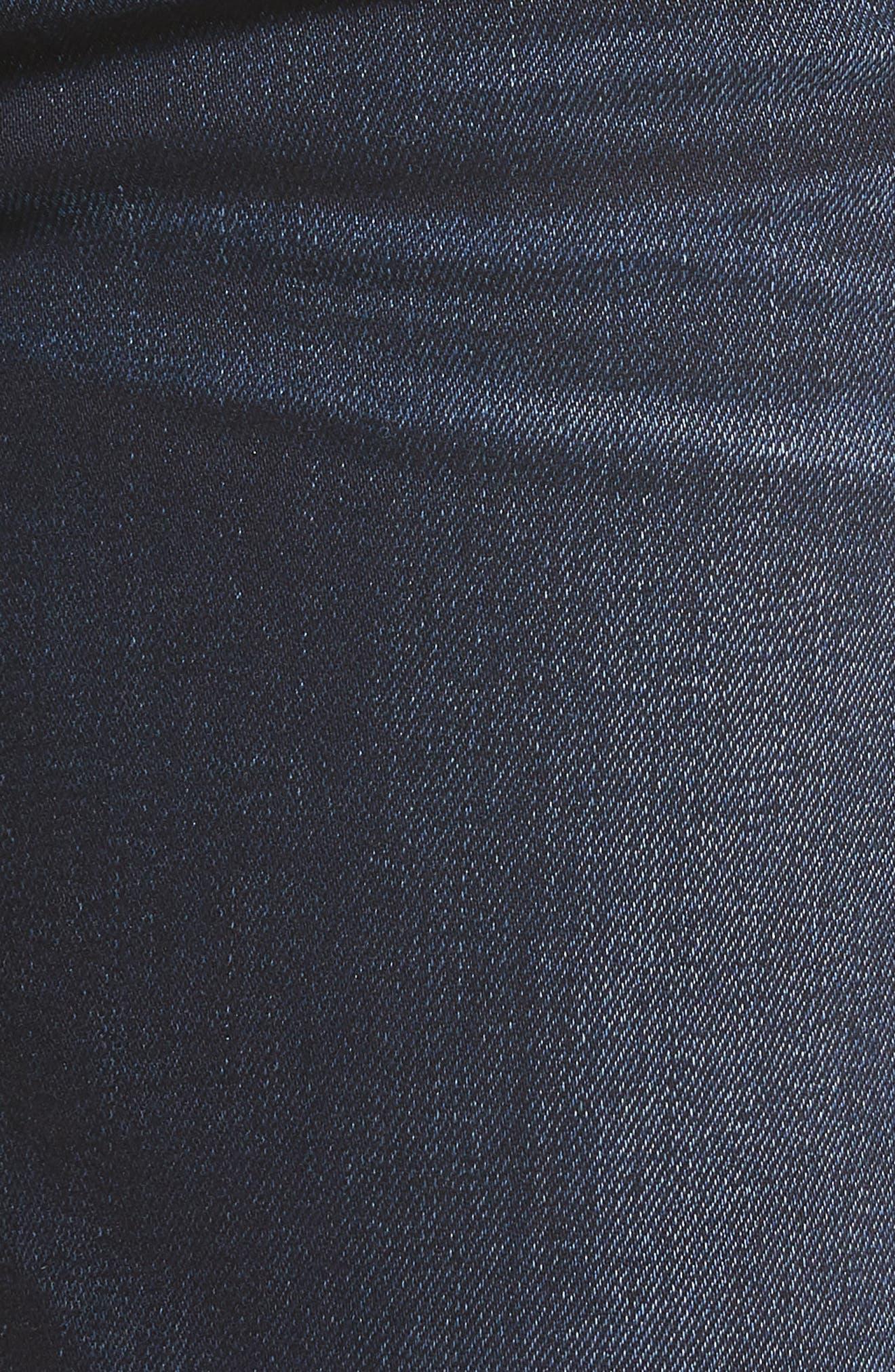 'Krista' Raw Hem Ankle Super Skinny Jeans,                             Alternate thumbnail 5, color,                             402
