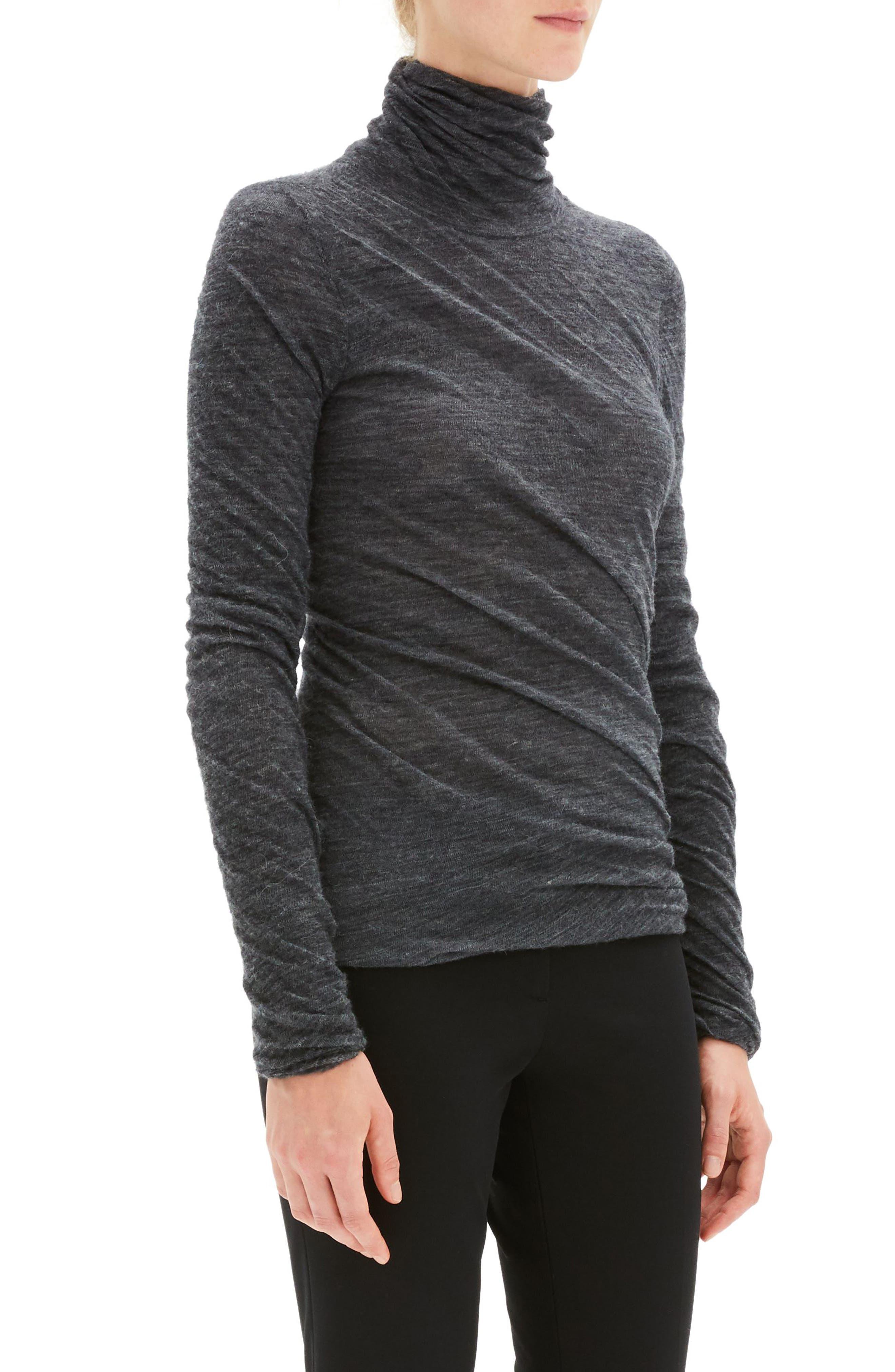 Twist Turtleneck Sweater,                             Alternate thumbnail 3, color,                             030