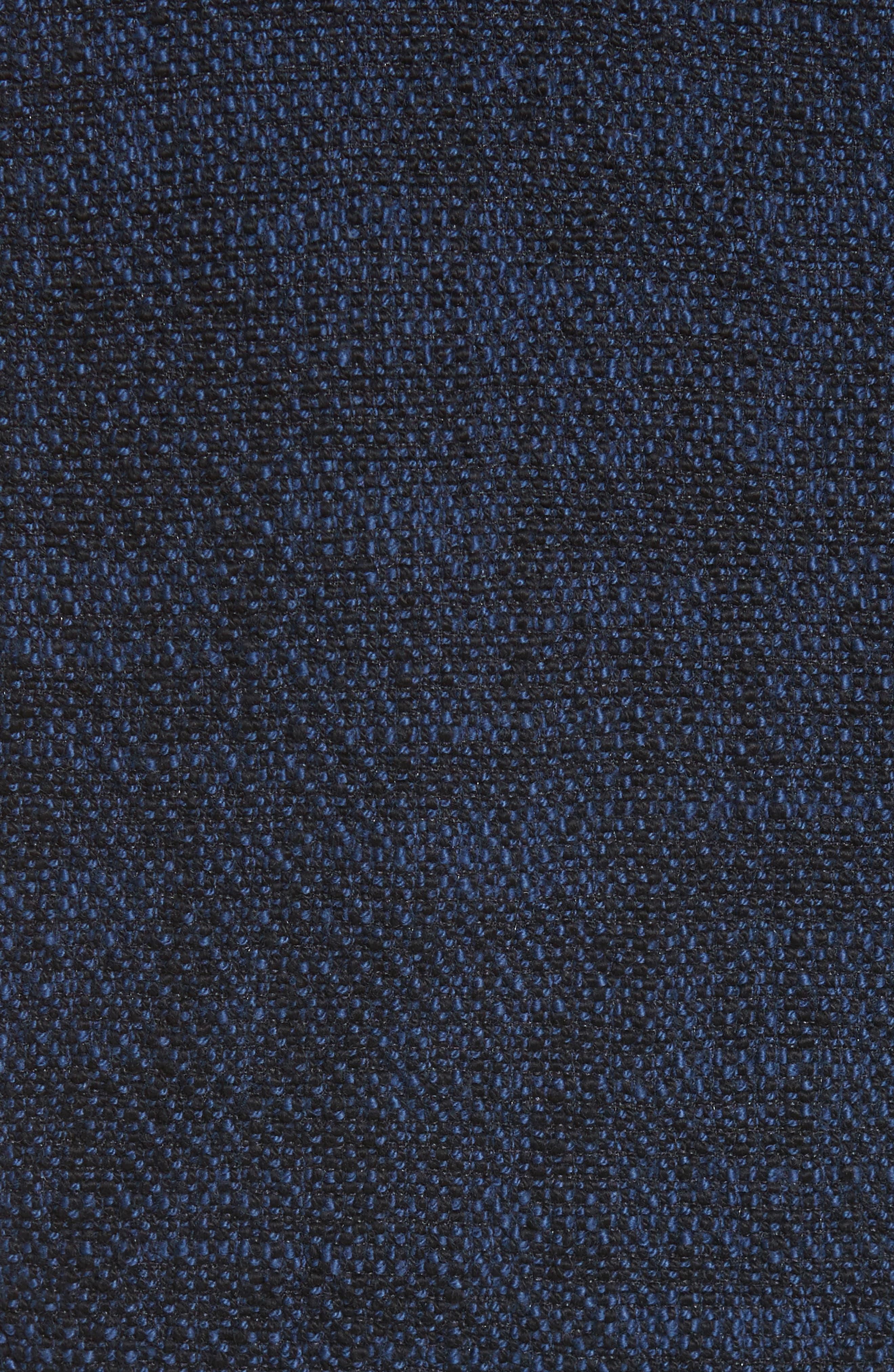 Ruffle Hem Tweed Dress,                             Alternate thumbnail 5, color,                             491