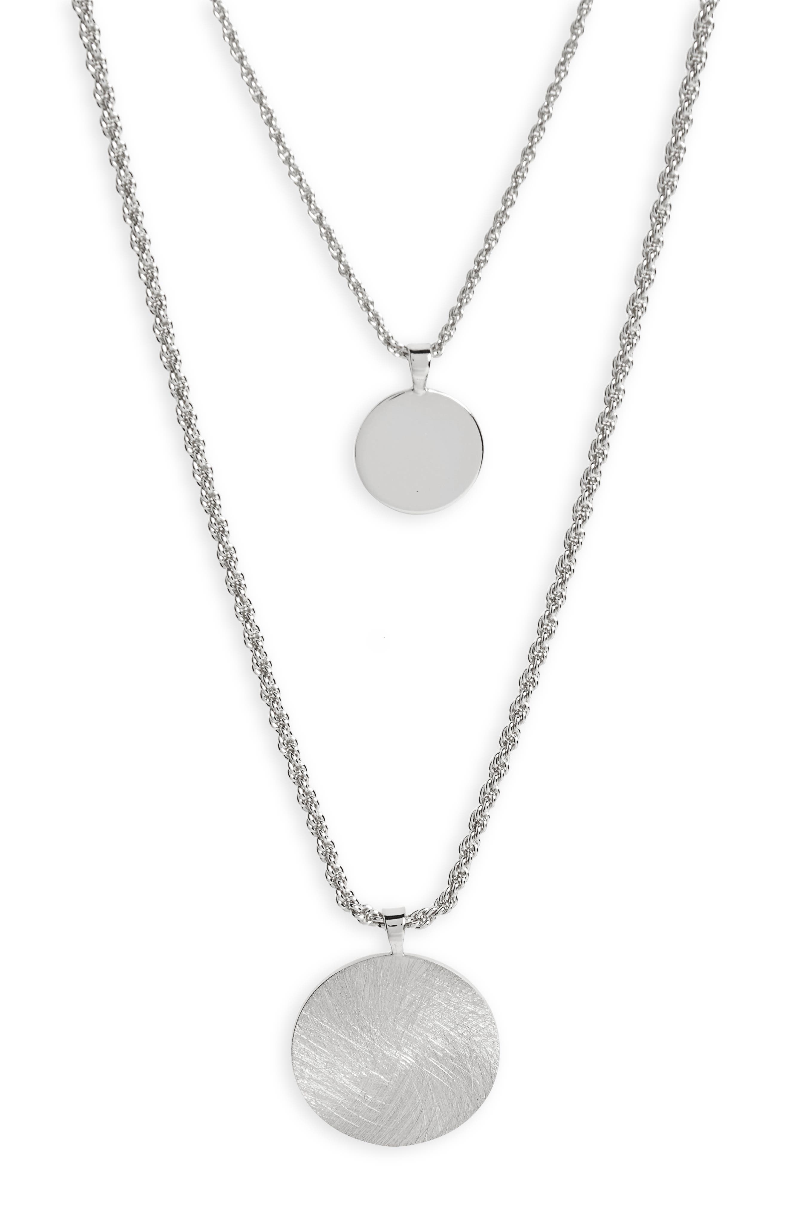 Double Layer Necklace,                             Alternate thumbnail 2, color,                             040