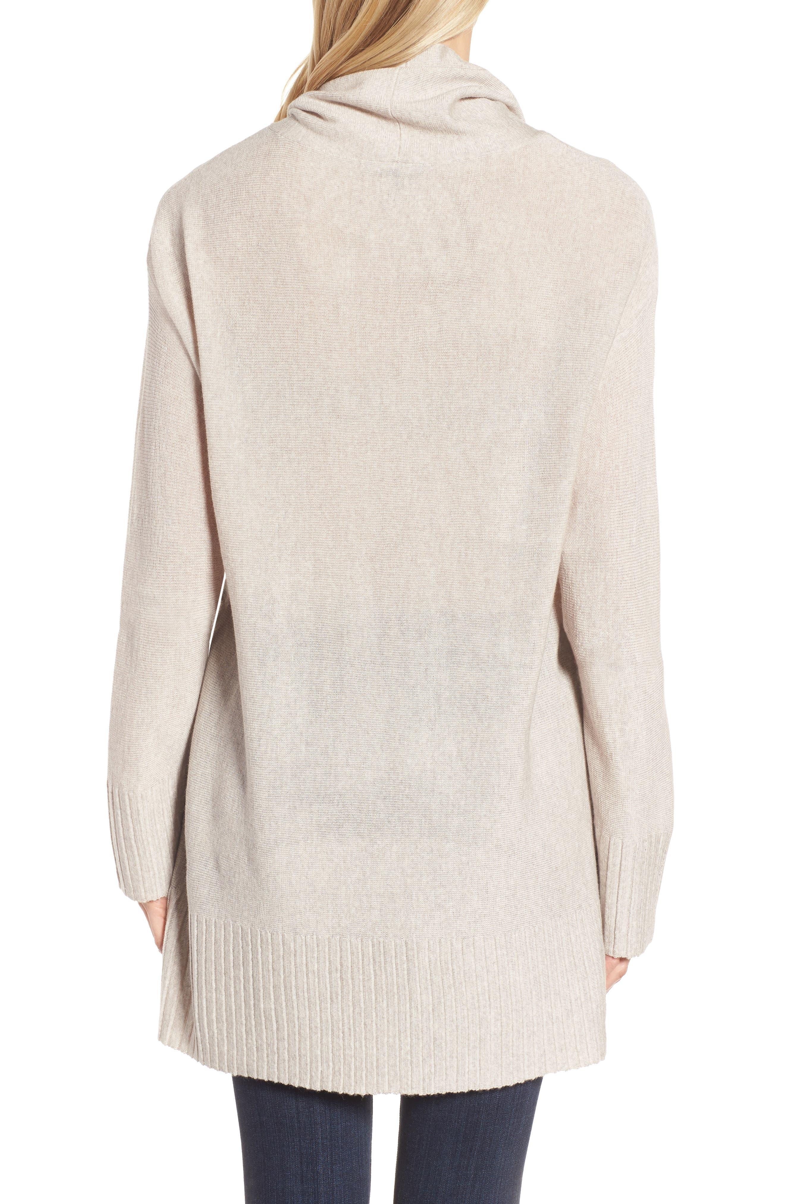 Merino Wool Tunic Sweater,                             Alternate thumbnail 4, color,