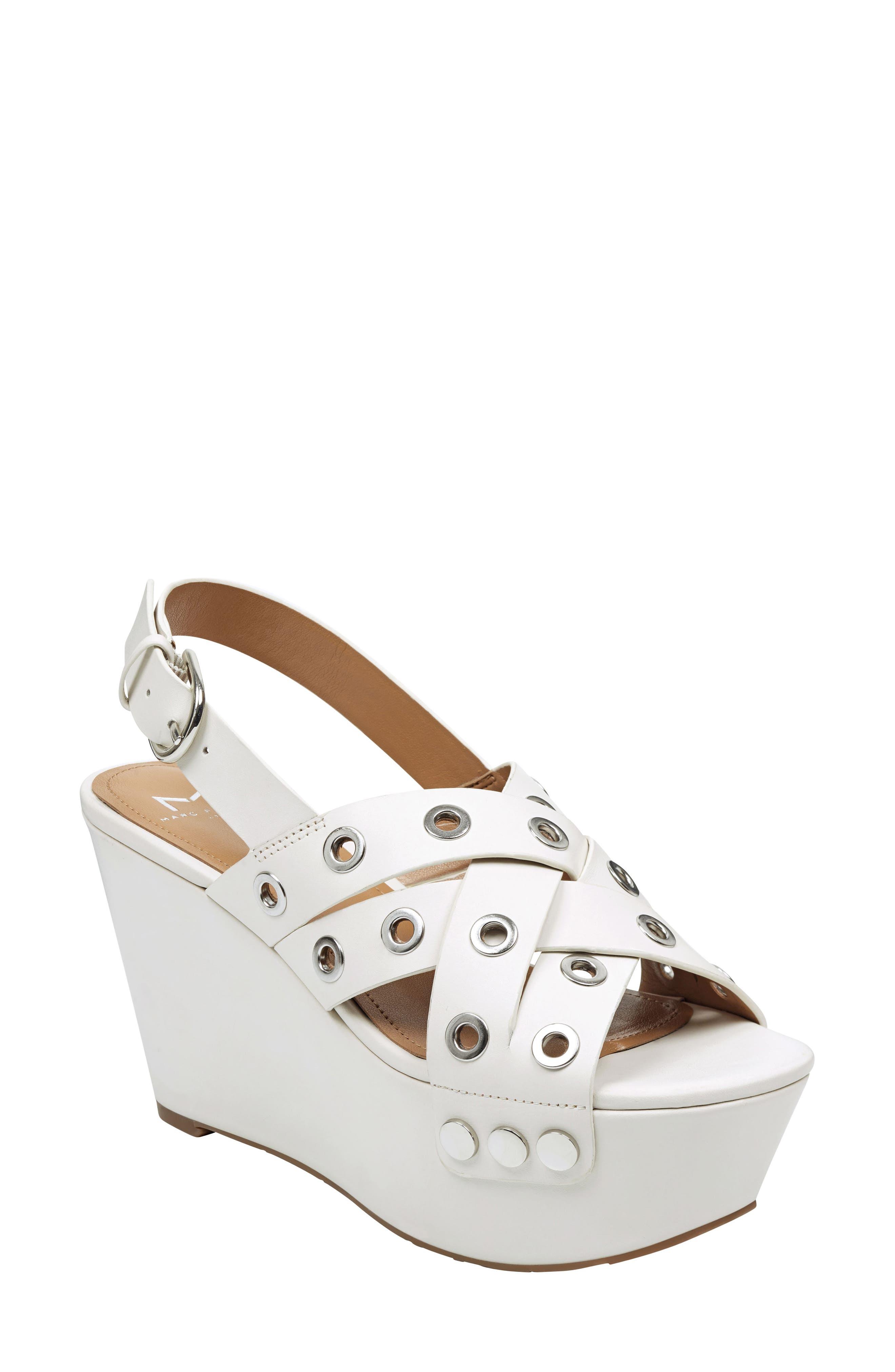 Marc Fisher Ltd Bloom Platform Sandal, White