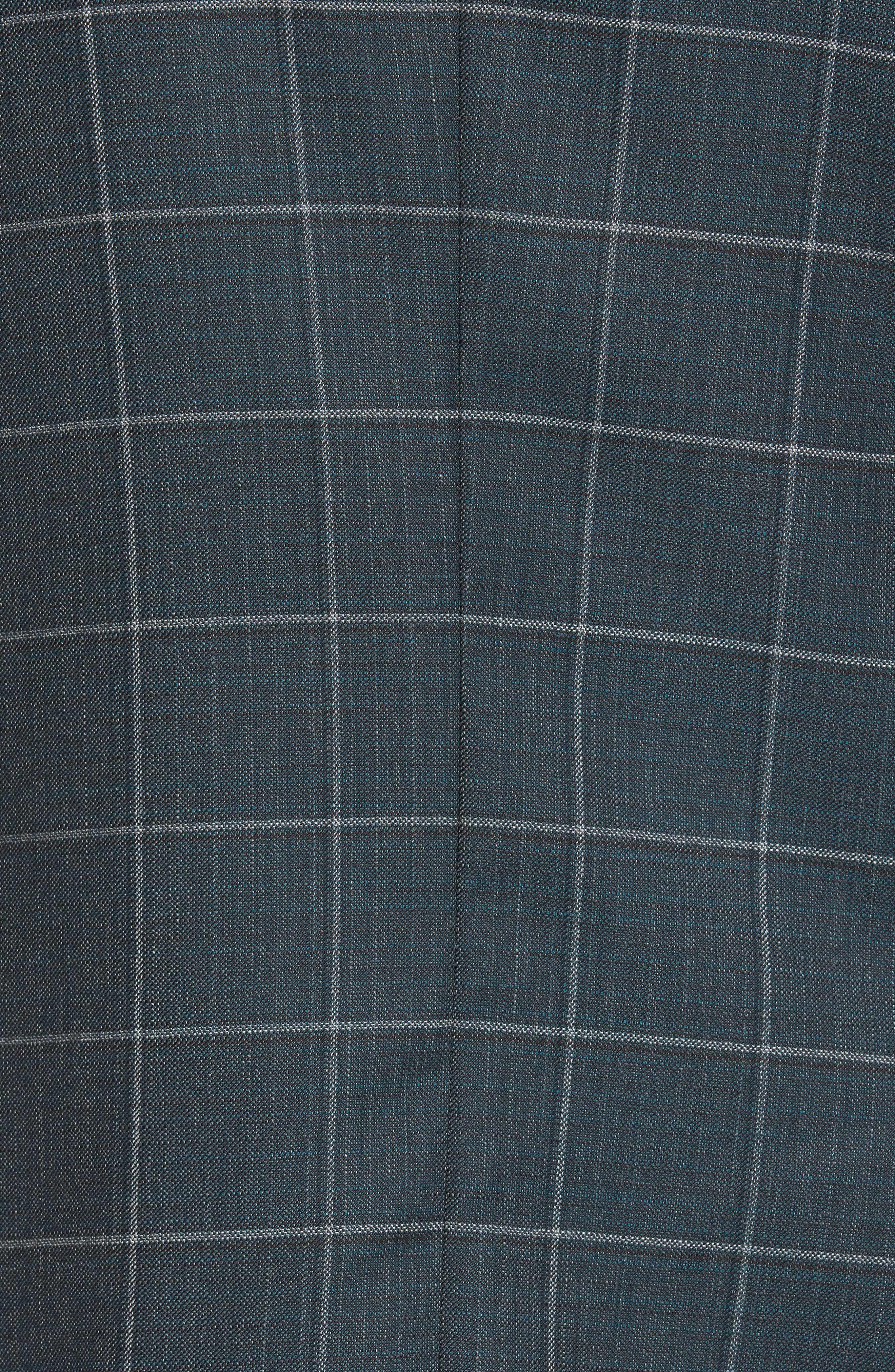 Nobis Trim Fit Windowpane Wool Sport Coat,                             Alternate thumbnail 6, color,                             MEDIUM GREEN