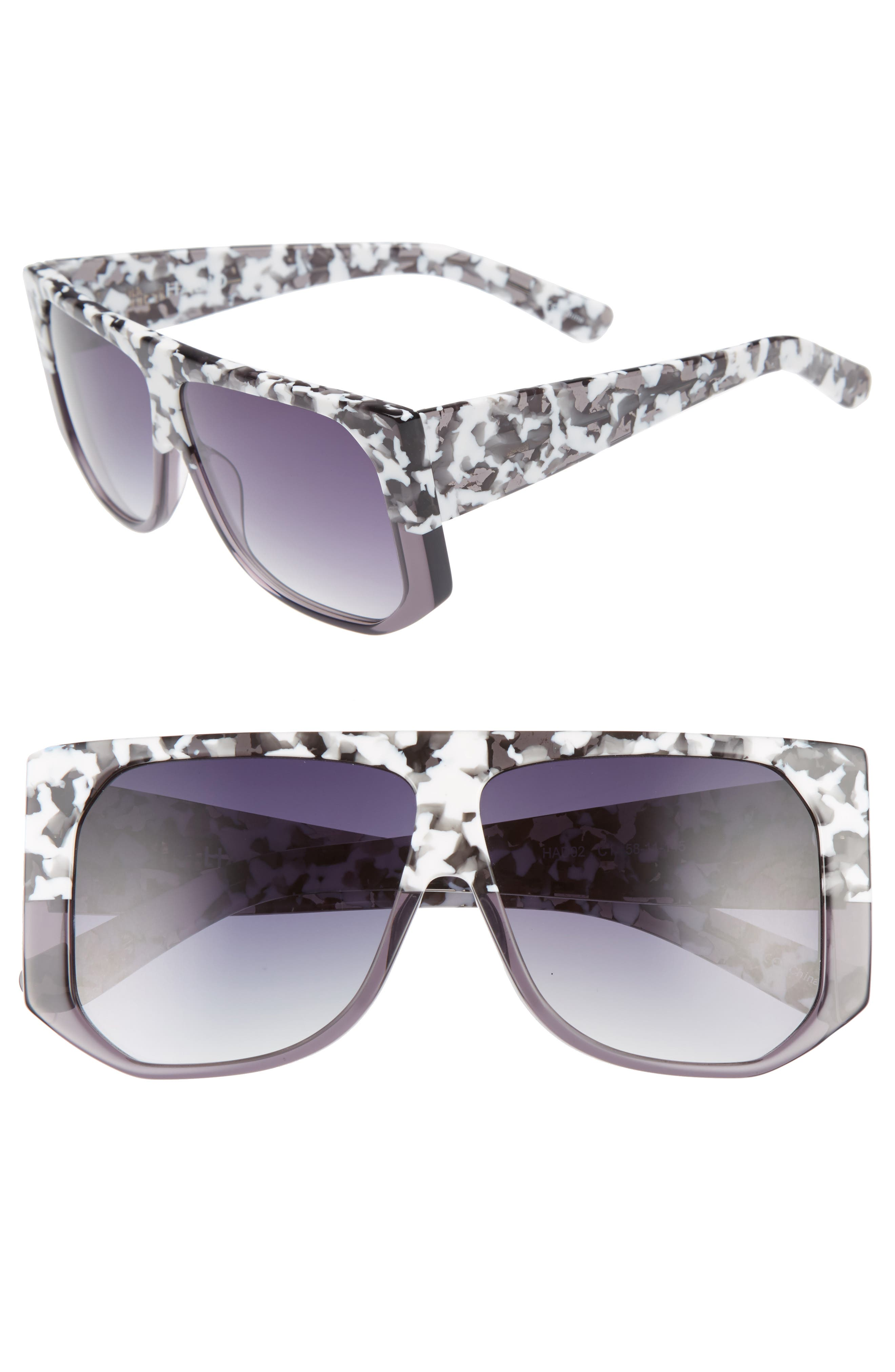 Frequent Flyer 58mm Sunglasses,                         Main,                         color, WHITE CAMO