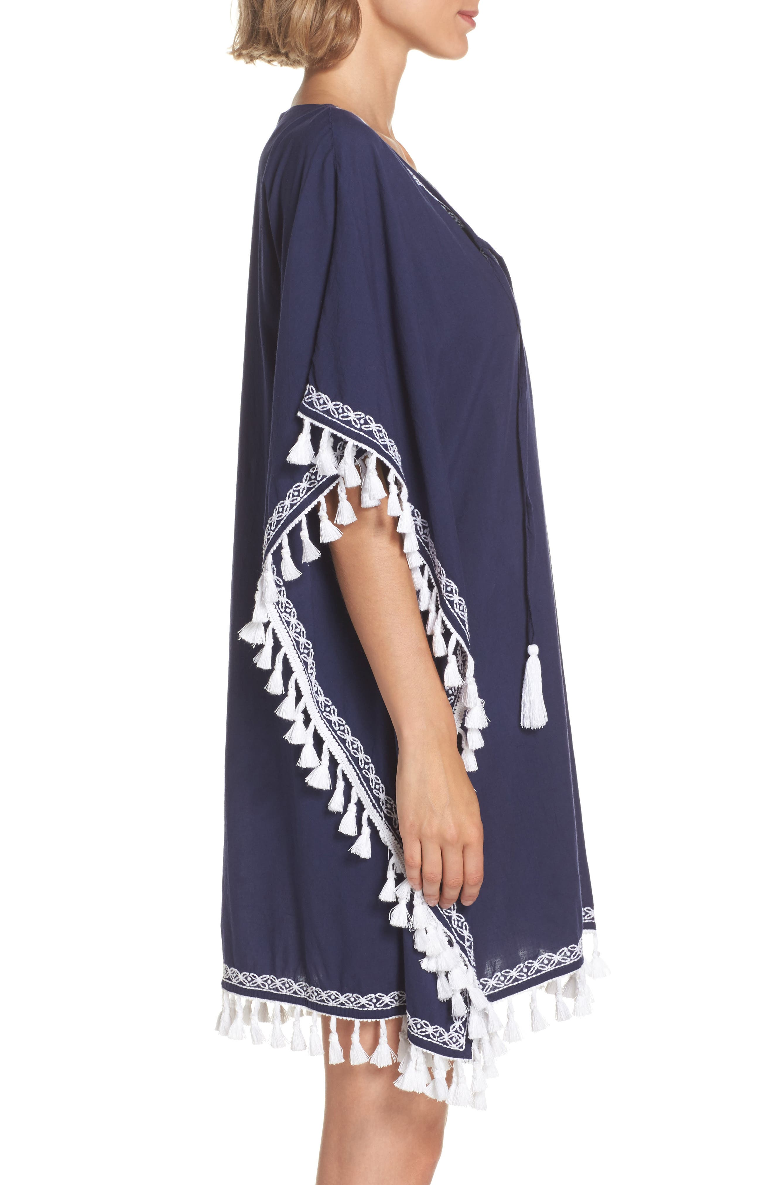 Voile Cover-Up Tunic,                             Alternate thumbnail 3, color,                             400
