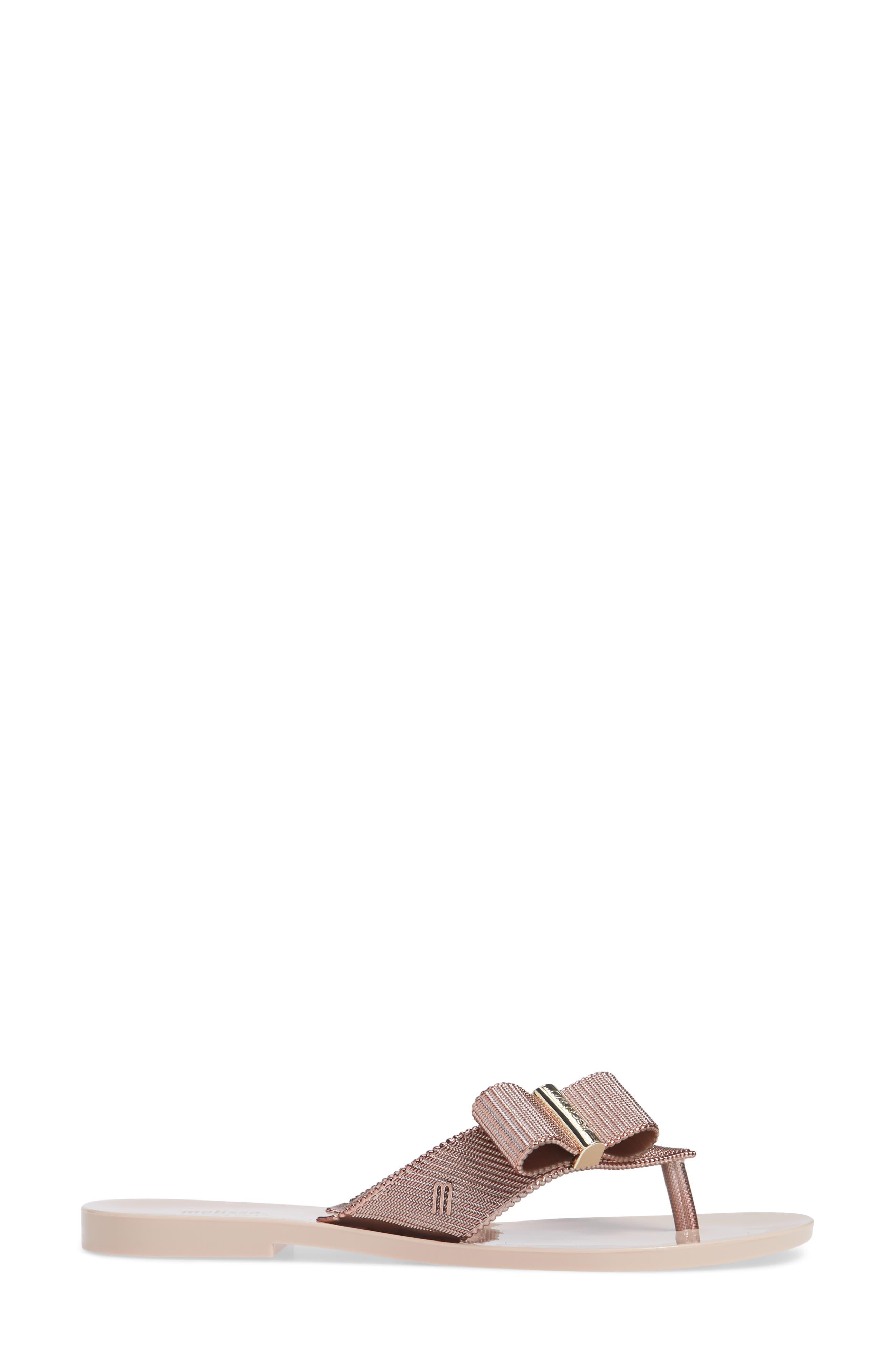 + Jason Wu Girl Chrome Flip Flop,                             Alternate thumbnail 3, color,                             ROSE GOLD