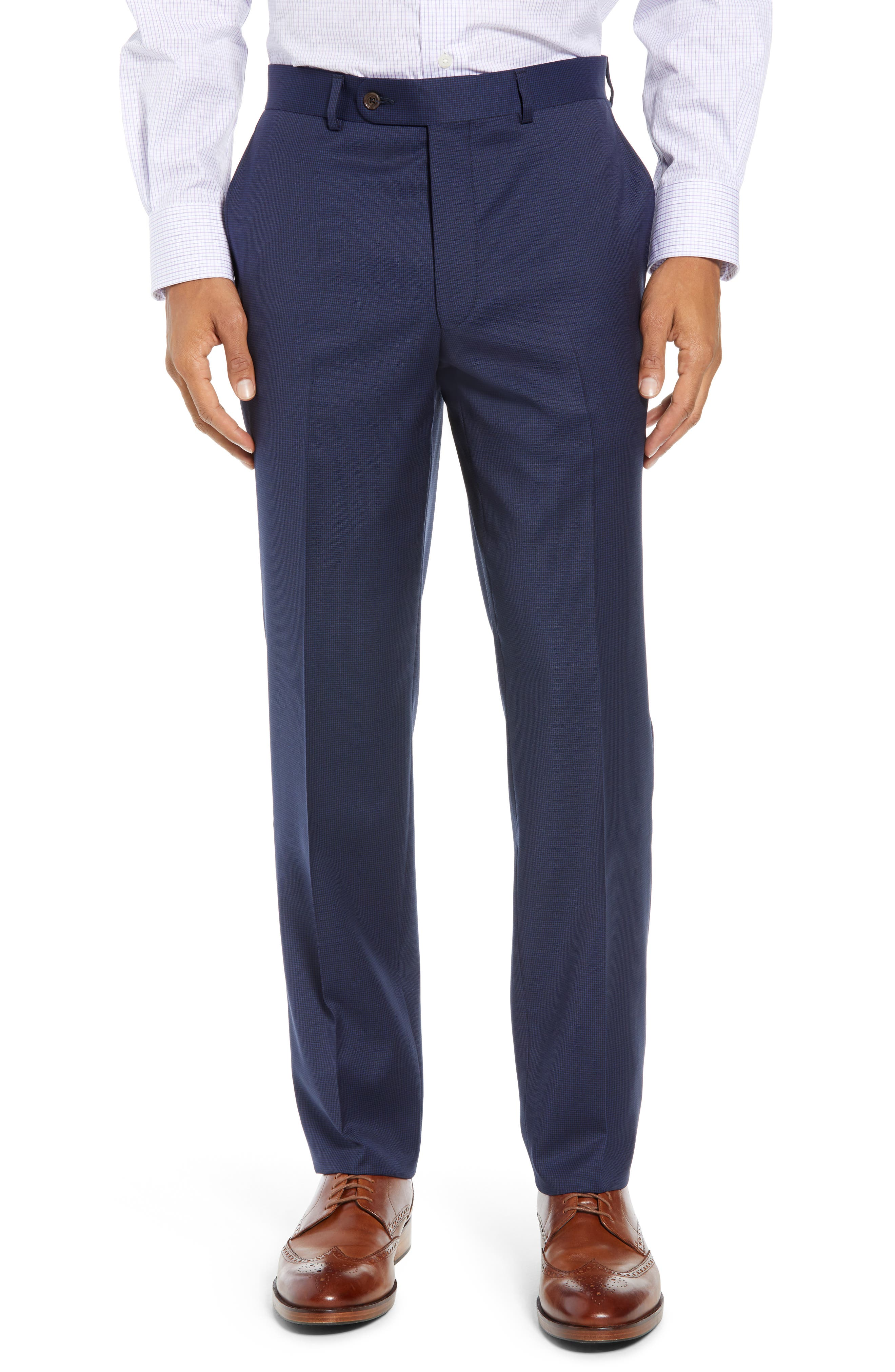 Ryan Classic Fit Houndstooth Wool Suit,                             Alternate thumbnail 6, color,                             BLUE