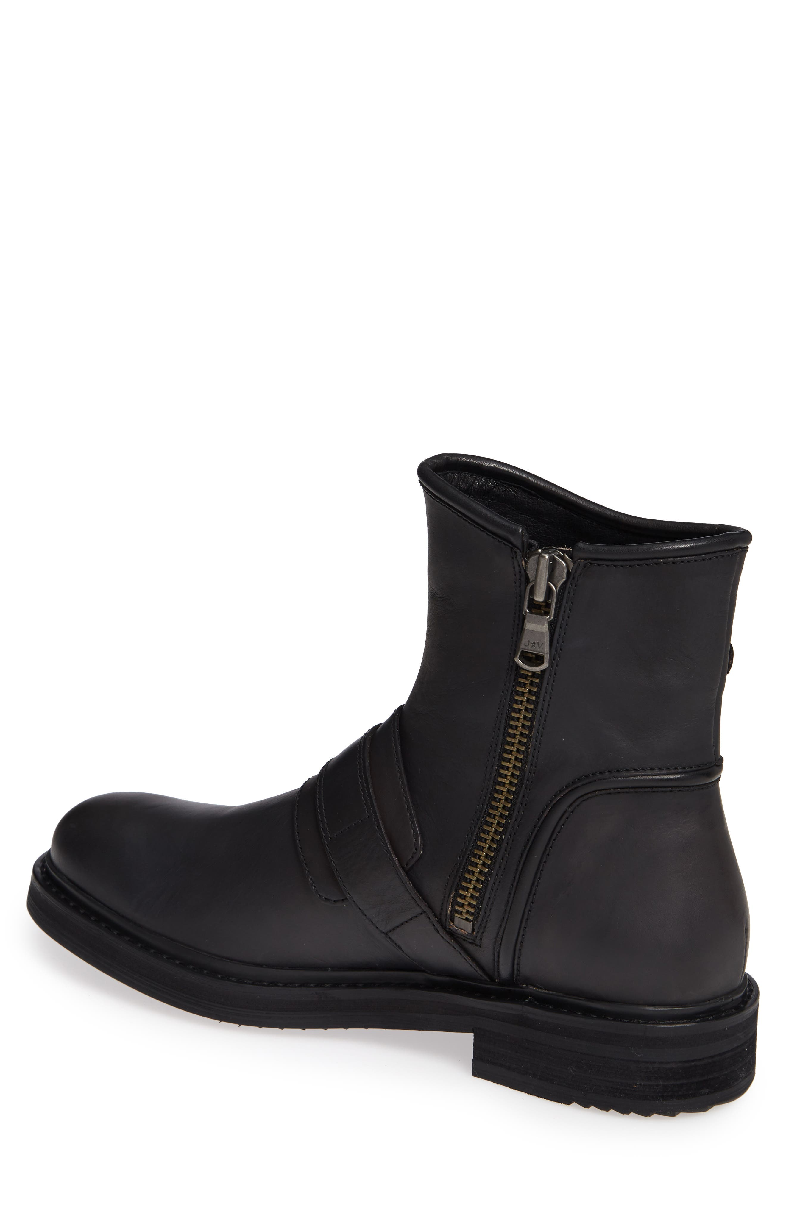Cooper Moto Buckle Boot,                             Alternate thumbnail 2, color,                             MINERAL BLACK LEATHER