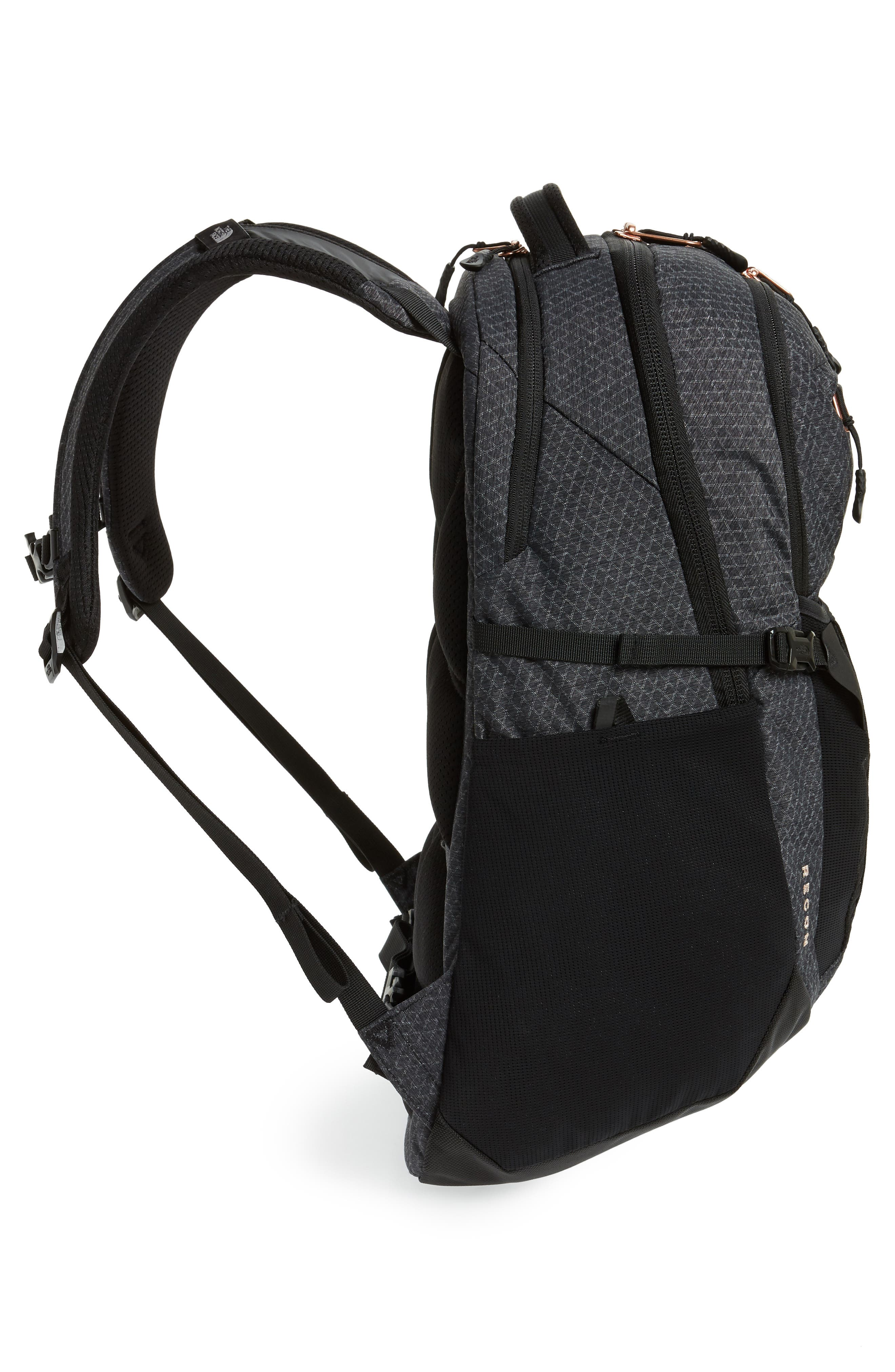 'Recon' Backpack,                             Alternate thumbnail 5, color,                             TNF BLACK HEATHER/ BURNT CORAL