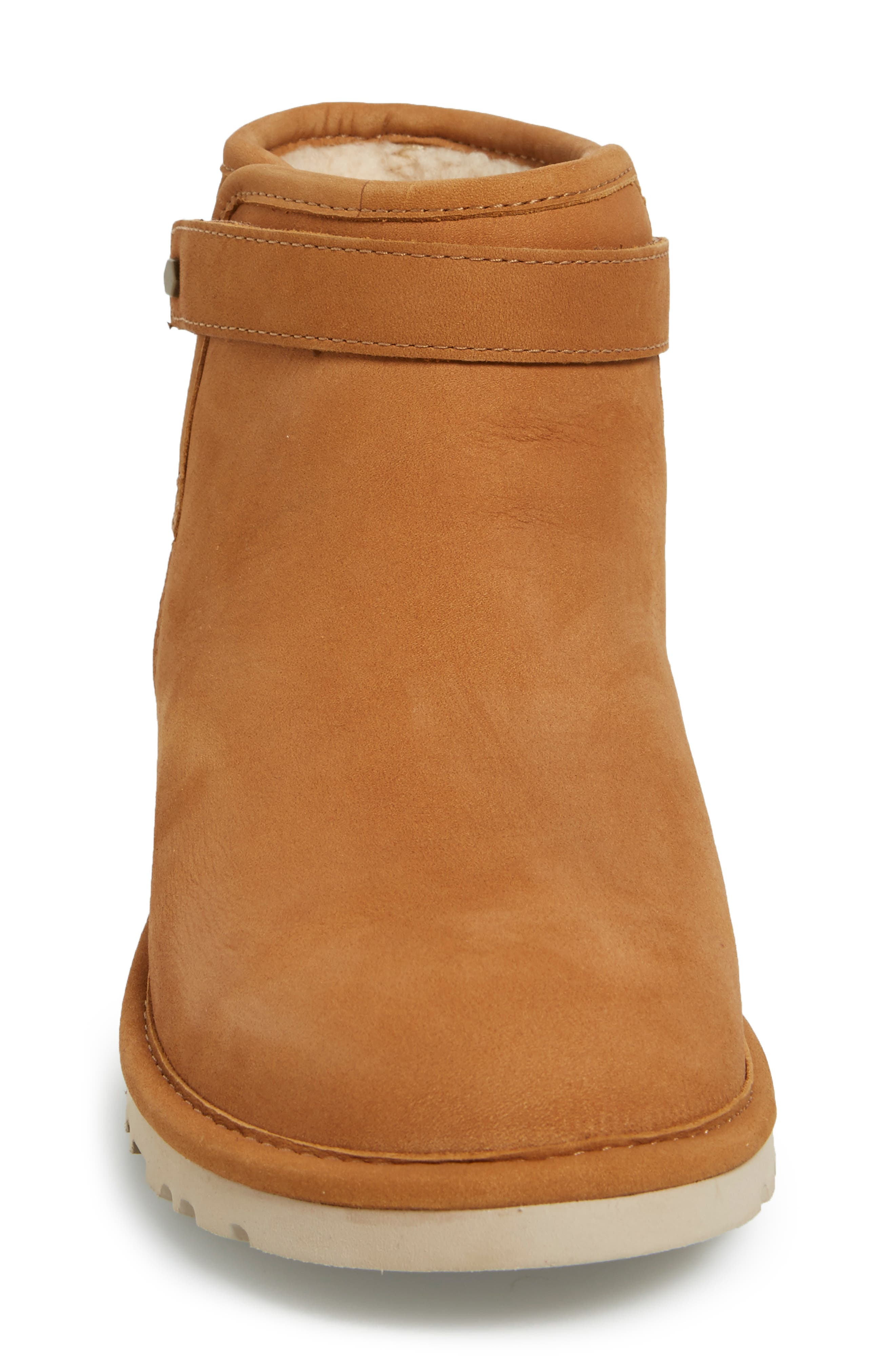 'Rella' Leather Ankle Boot,                             Alternate thumbnail 4, color,                             219