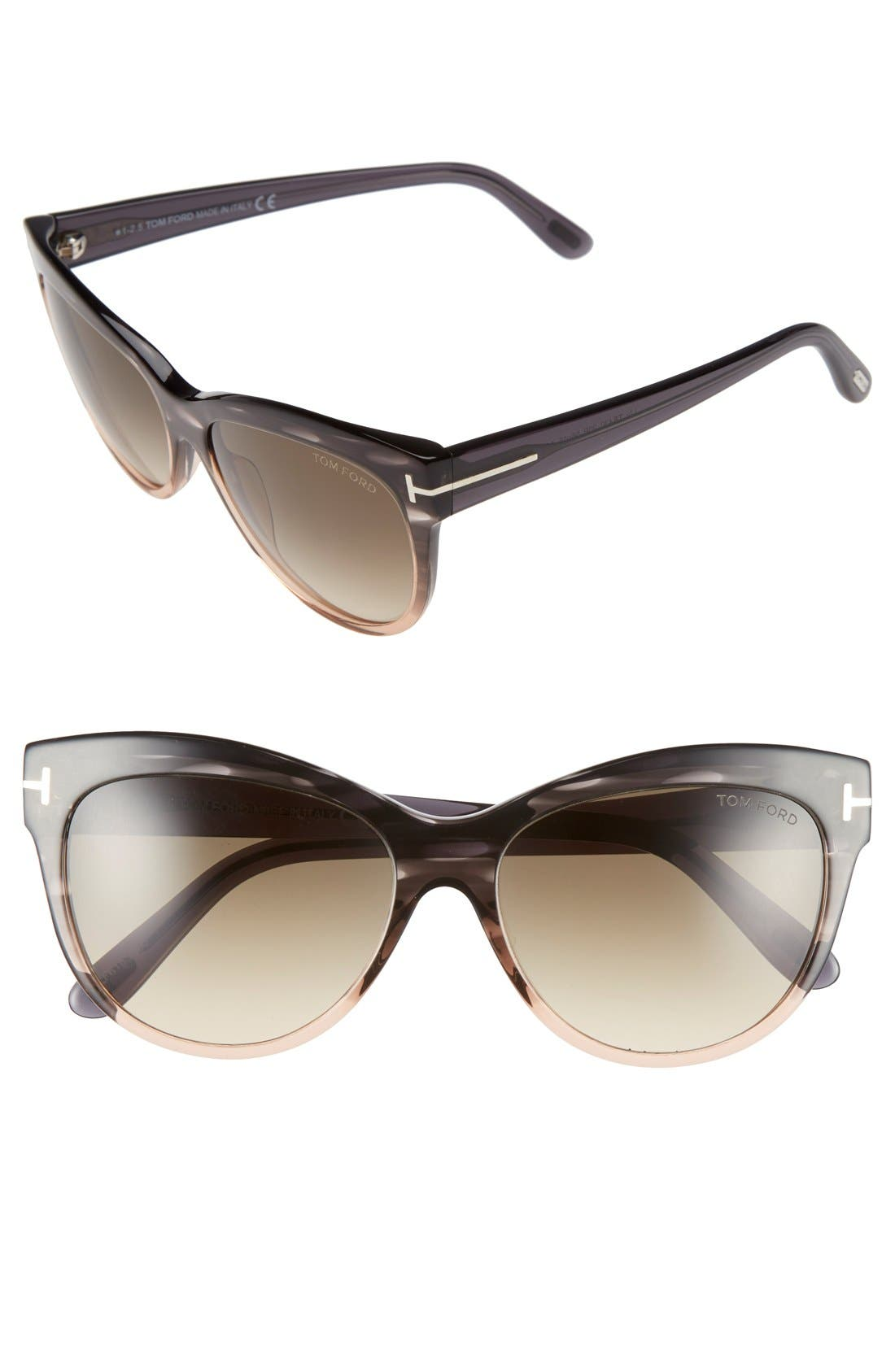 'Lily' 56mm Cat Eye Sunglasses,                         Main,                         color, 020