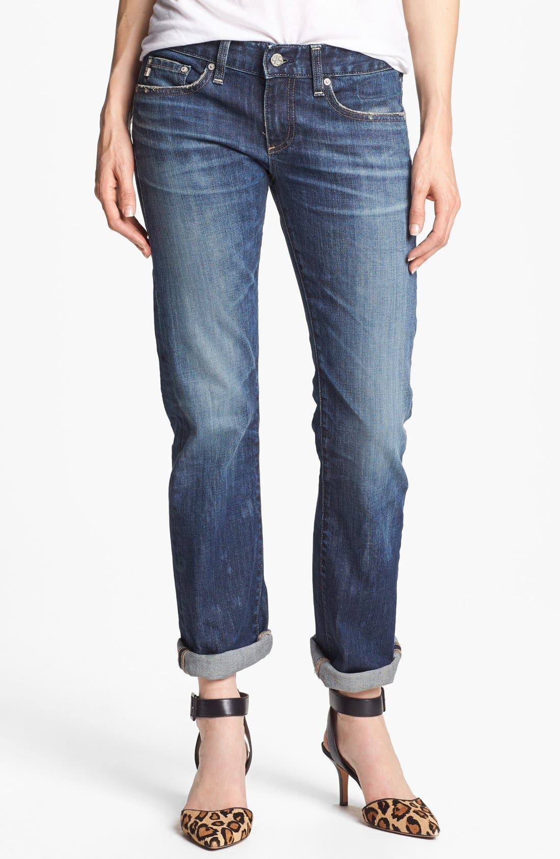 'The Tomboy' Relaxed Straight Leg Jeans,                             Main thumbnail 3, color,