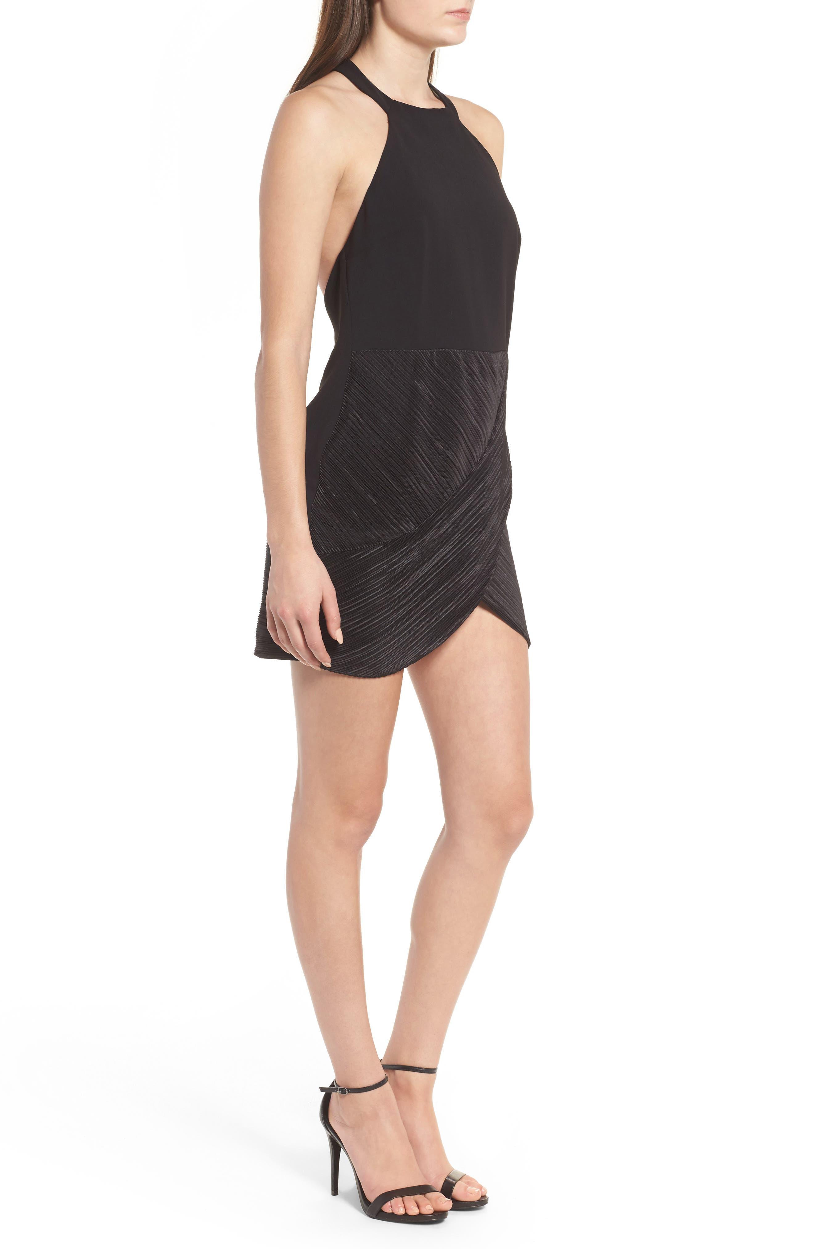 NBD,                             Evelyn T-Back Dress,                             Alternate thumbnail 3, color,                             001