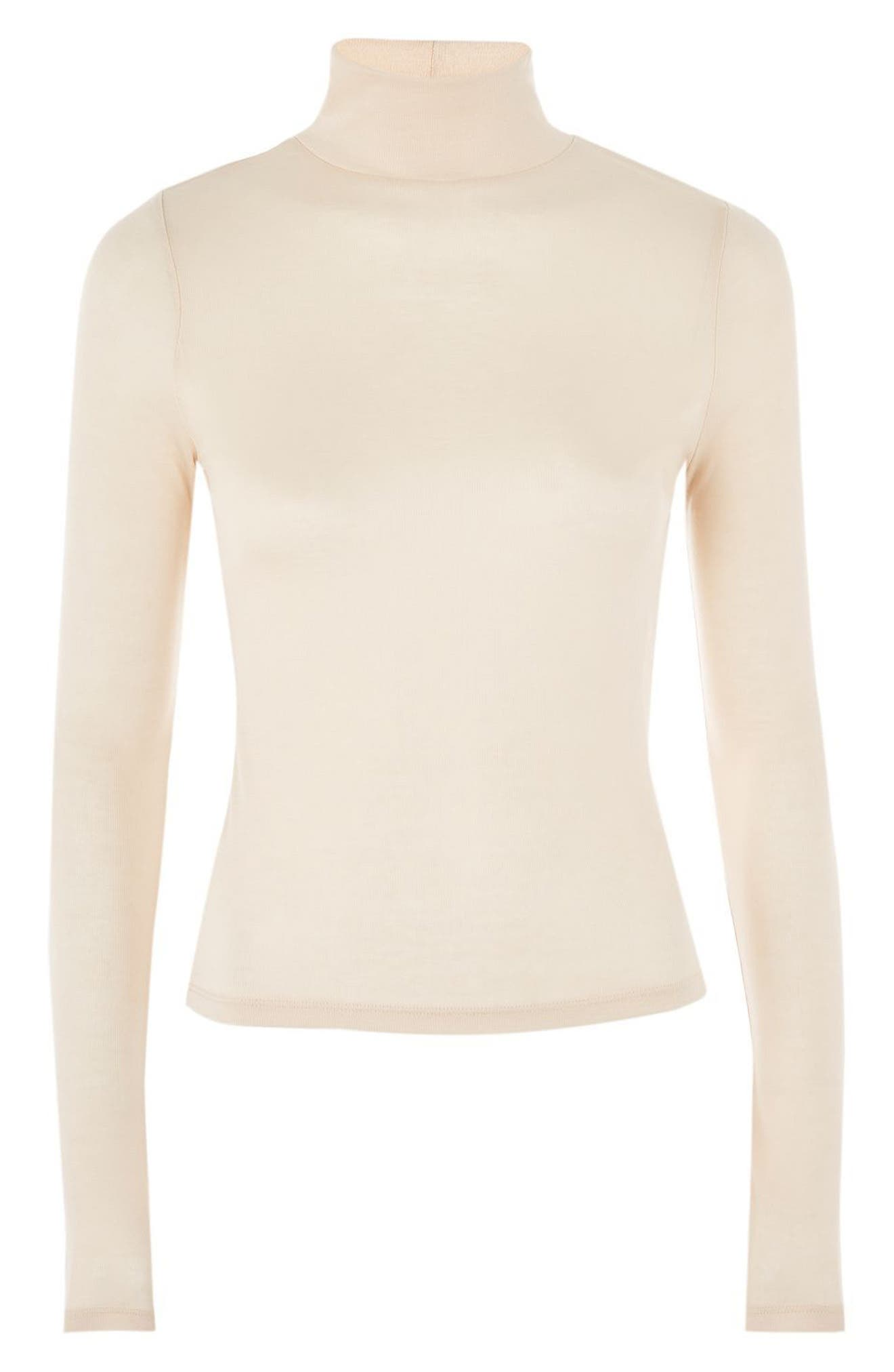 Ribbed Turtleneck Top,                             Alternate thumbnail 25, color,