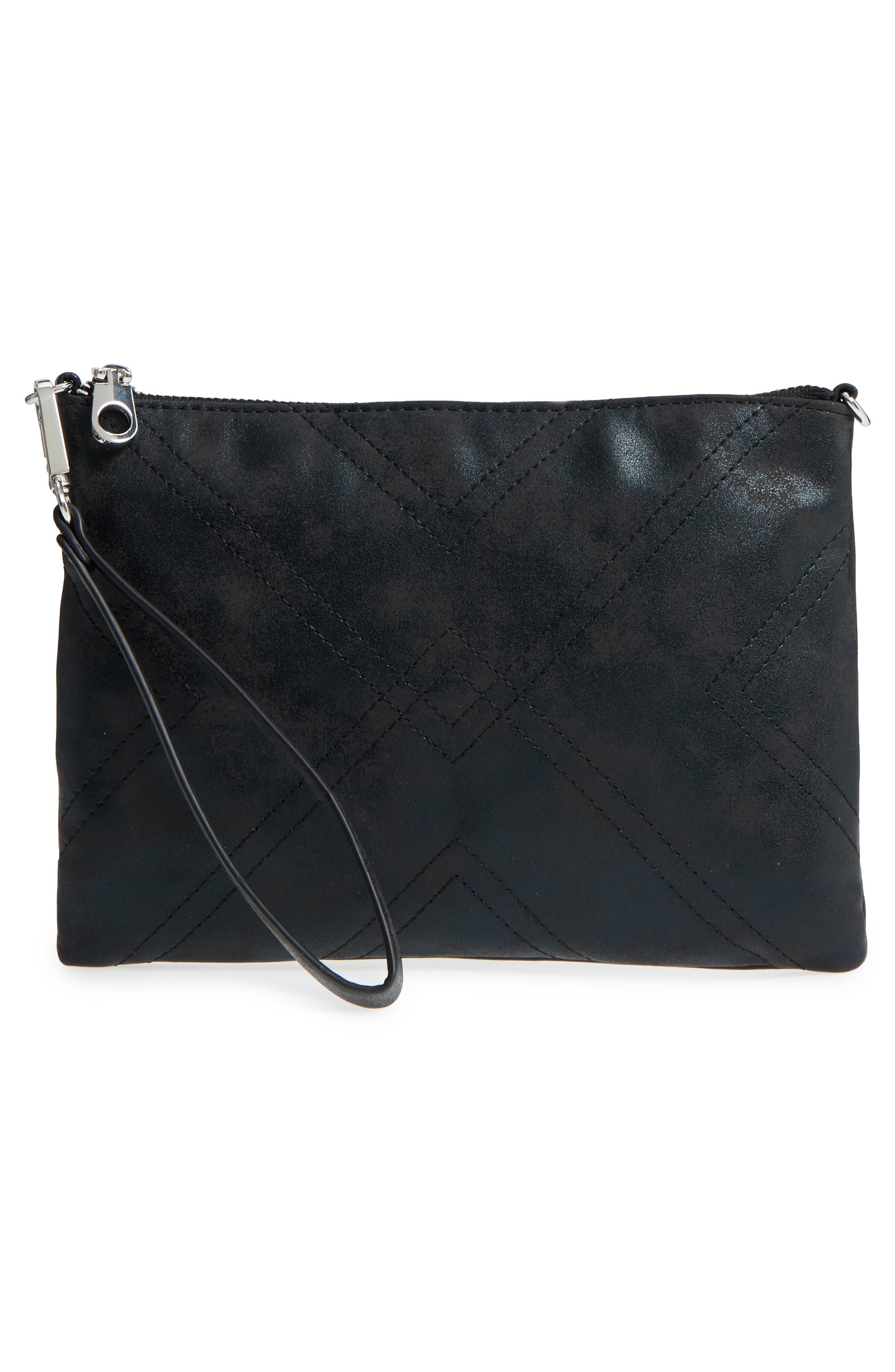 Astley Faux Leather Clutch,                             Alternate thumbnail 7, color,