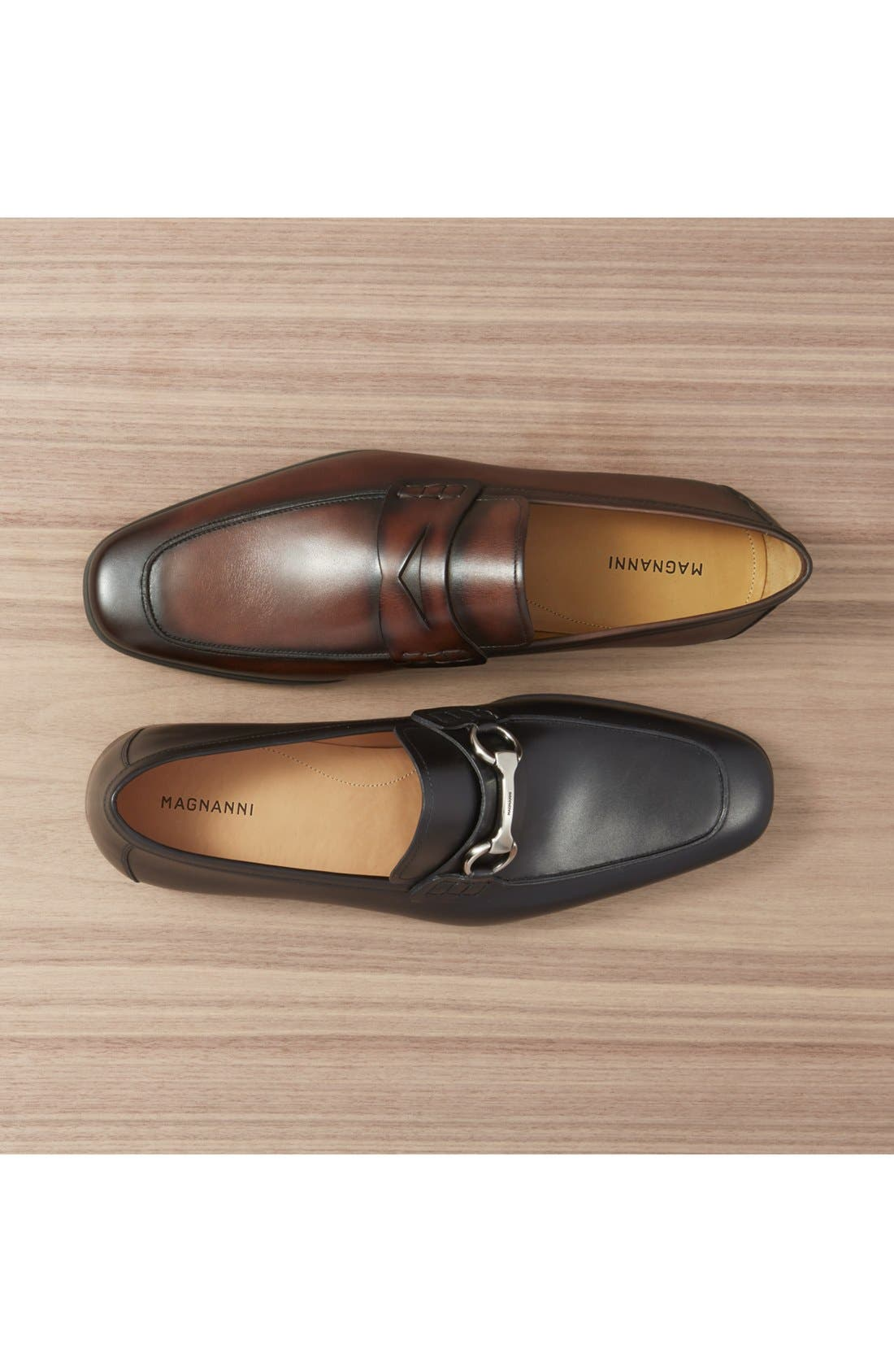 'Ramiro II' Penny Loafer,                             Alternate thumbnail 6, color,                             MID BROWN LEATHER