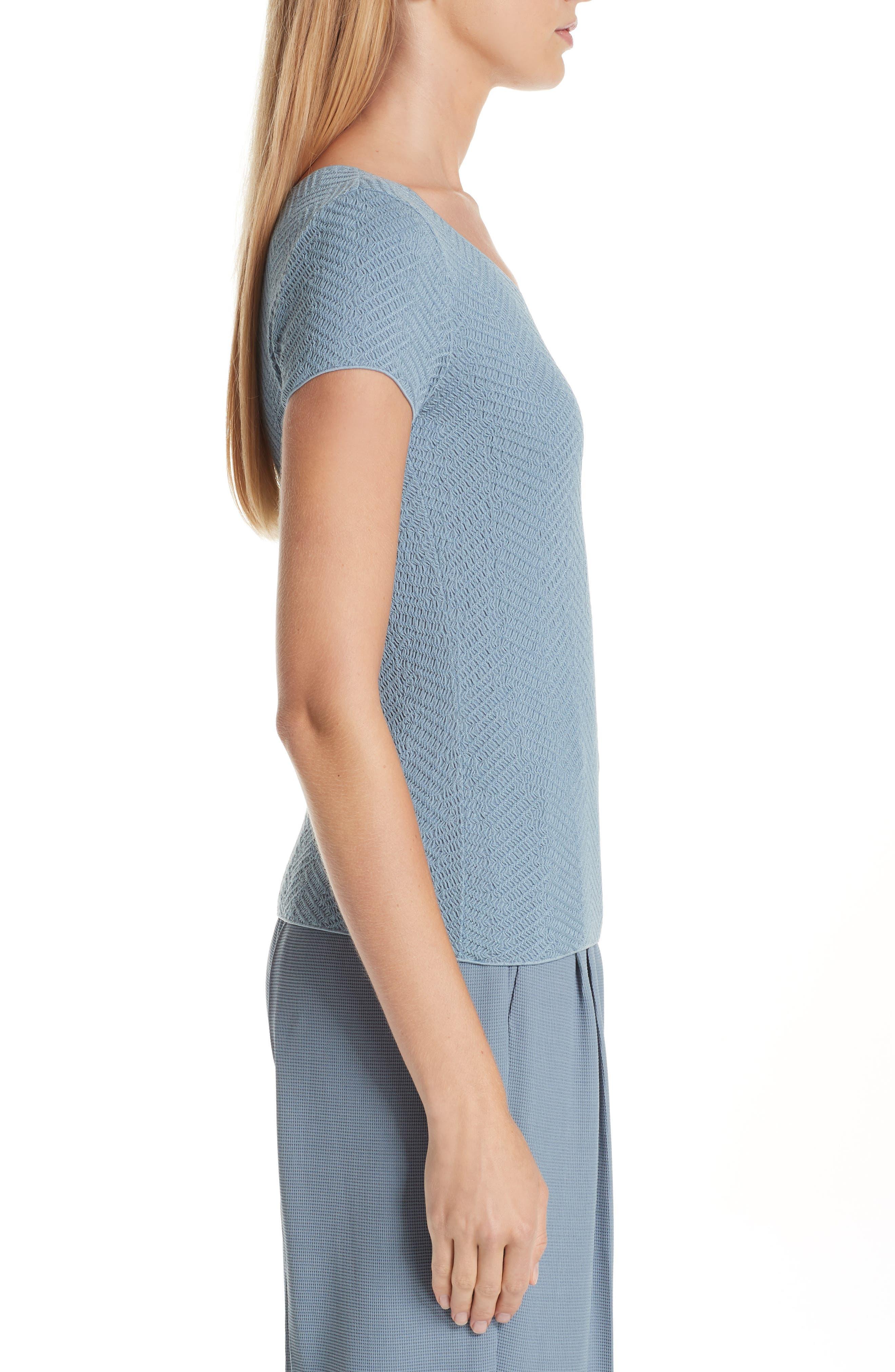 Short Sleeve Jersey Tee,                             Alternate thumbnail 3, color,                             STONE BLUE
