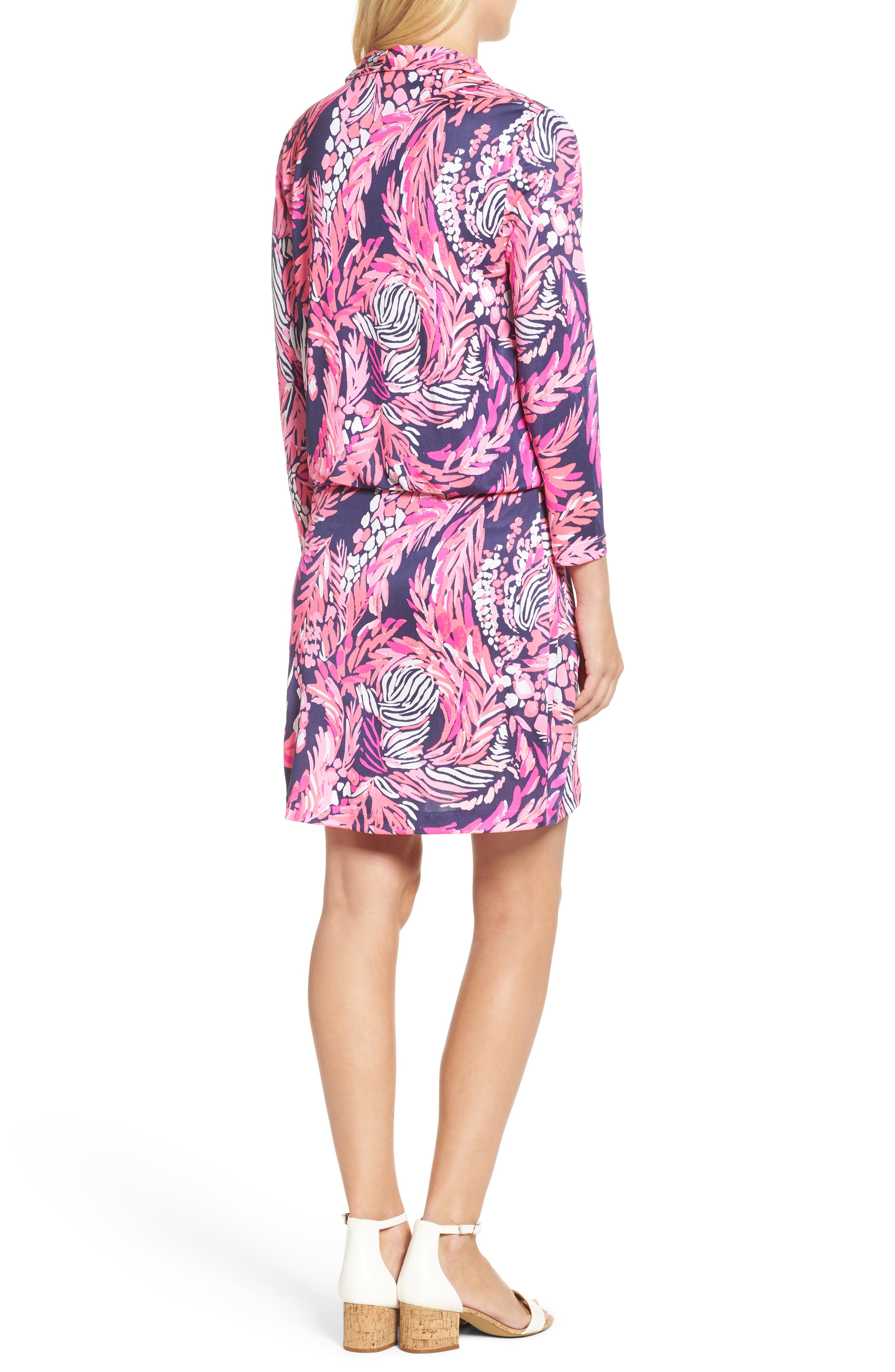 Felizia Silk Dress,                             Alternate thumbnail 2, color,