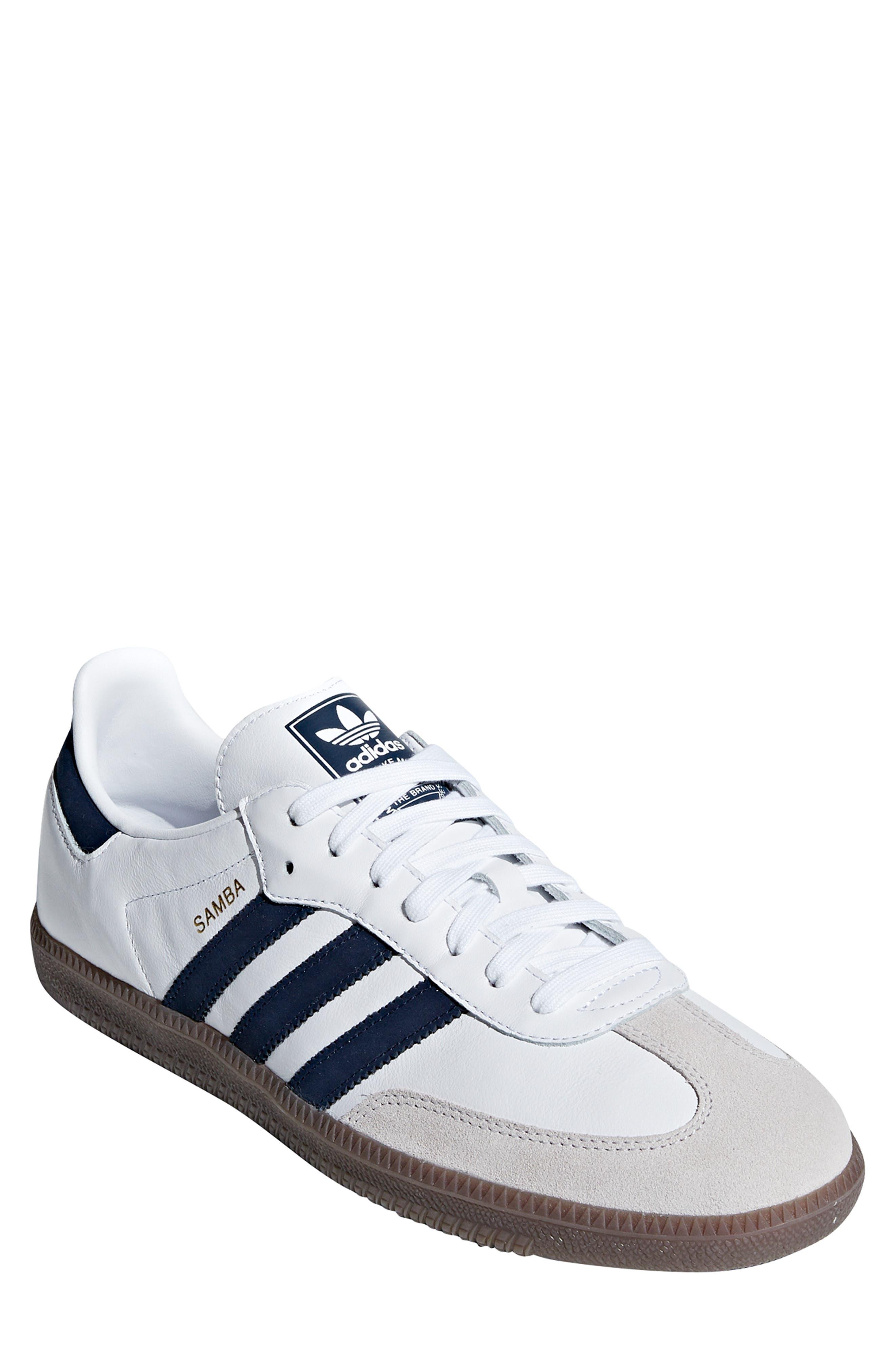 Samba OG Sneaker,                         Main,                         color, WHITE/ NAVY / CRYSTAL WHITE