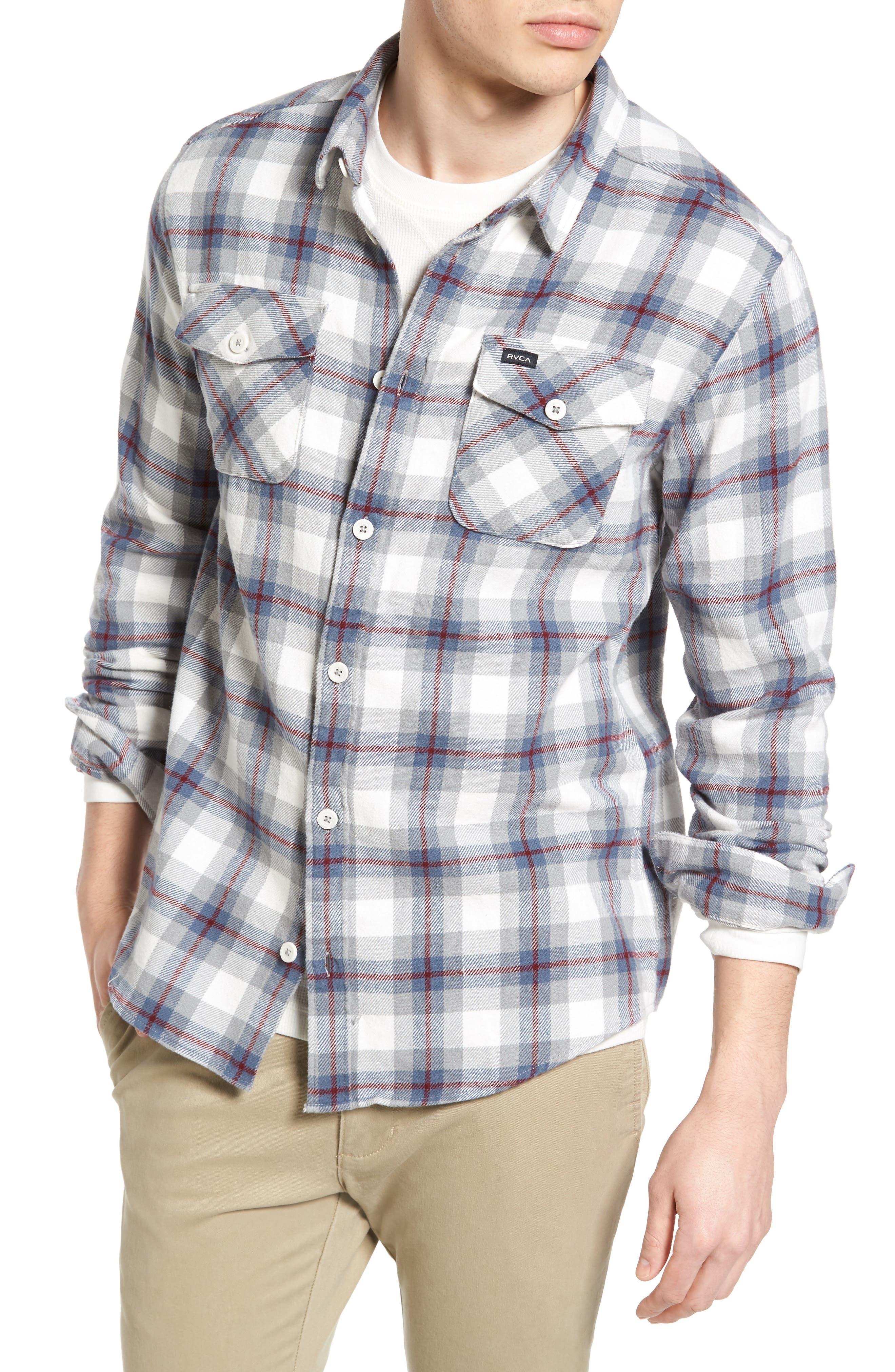 'That'll Work' Trim Fit Plaid Flannel Shirt,                             Main thumbnail 3, color,