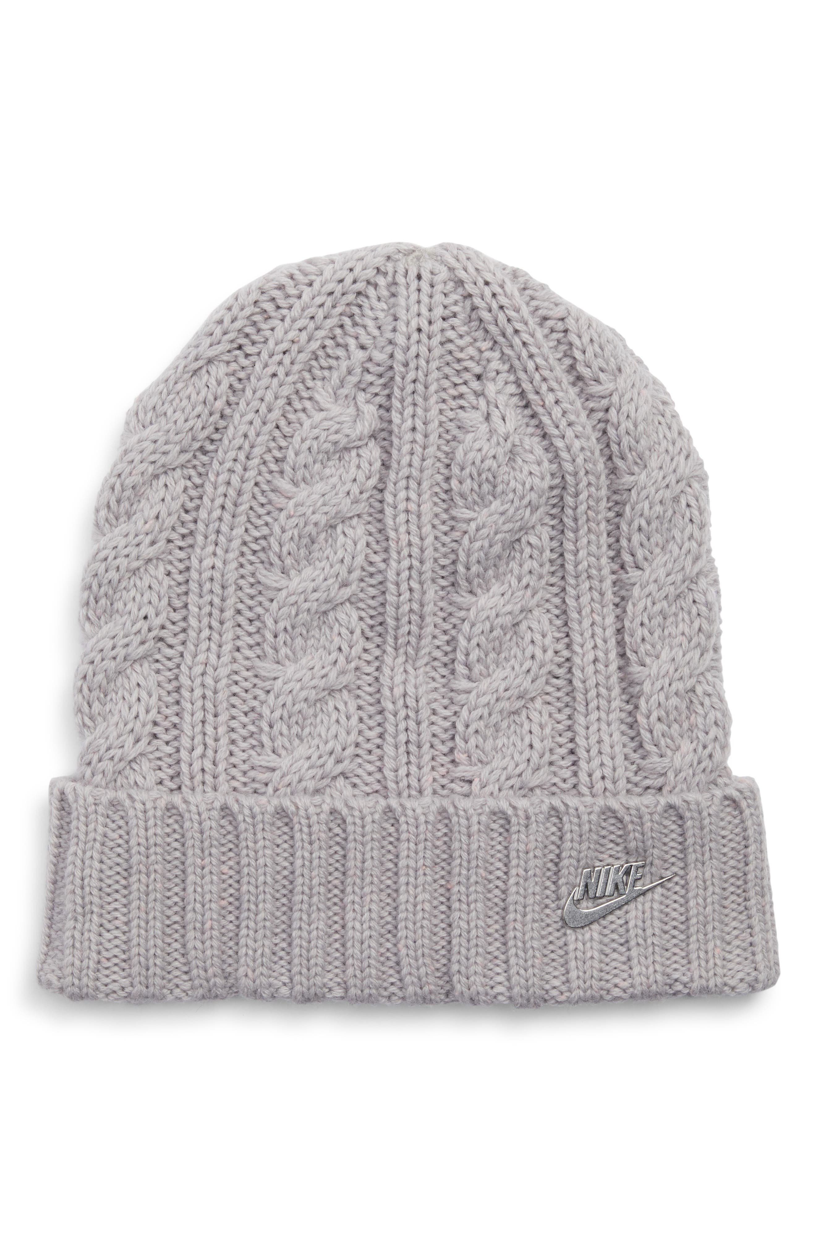 Sportswear Beanie with Removable Pom,                             Alternate thumbnail 2, color,                             027
