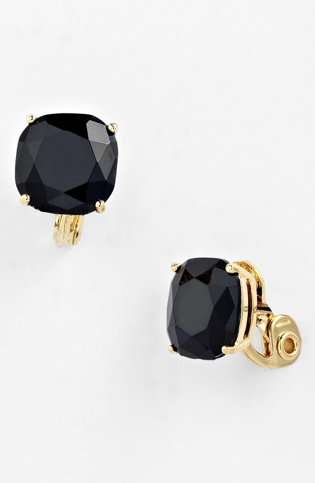 crystal stud clip earrings,                             Main thumbnail 1, color,                             001