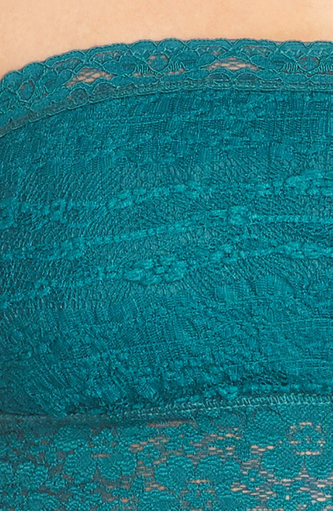 Intimately FP Lace Bandeau Bralette,                             Alternate thumbnail 3, color,                             OCEAN