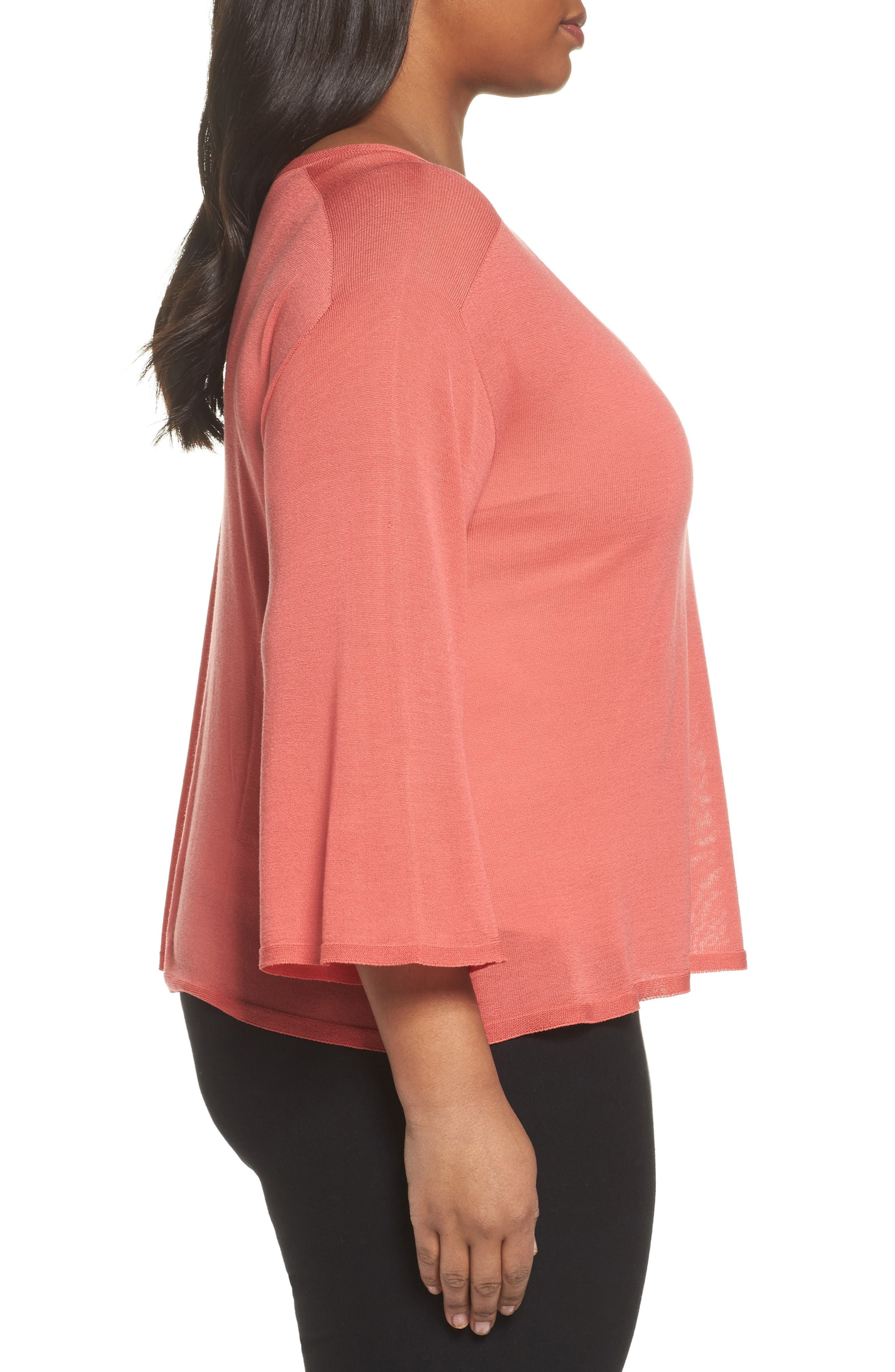 Tencel<sup>®</sup> Lyocell Lyocell Knit Sweater,                             Alternate thumbnail 6, color,