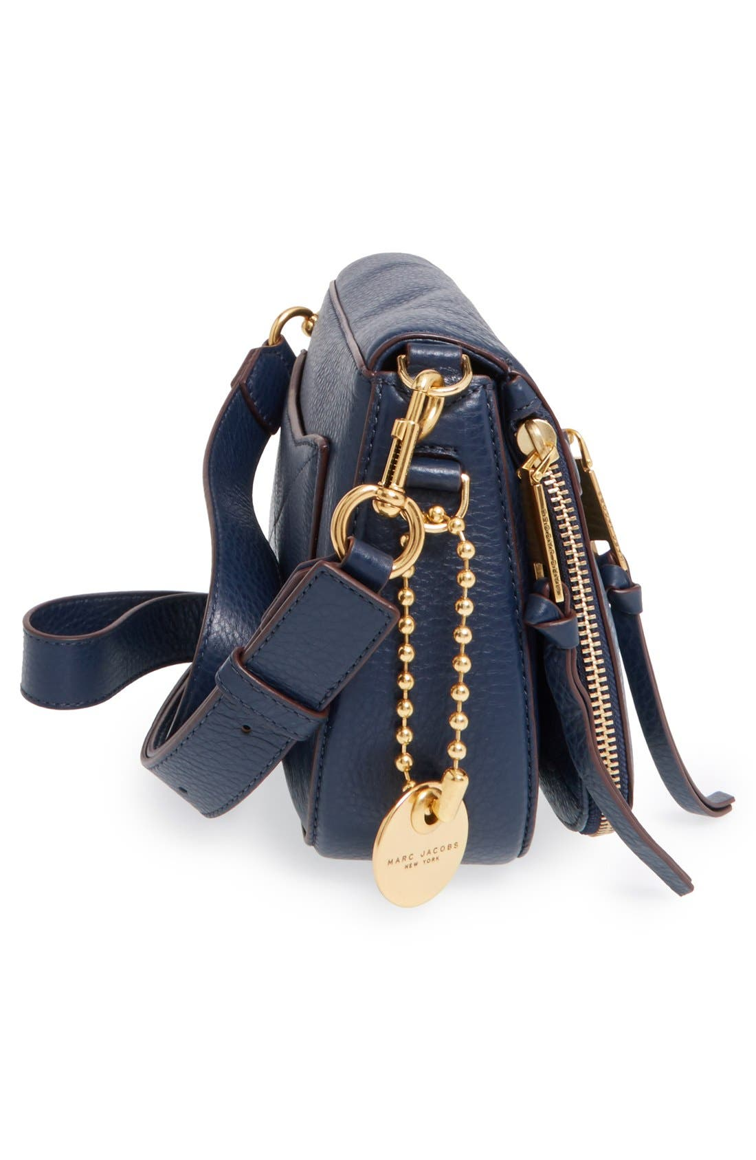 Small Recruit Nomad Pebbled Leather Crossbody Bag,                             Alternate thumbnail 62, color,