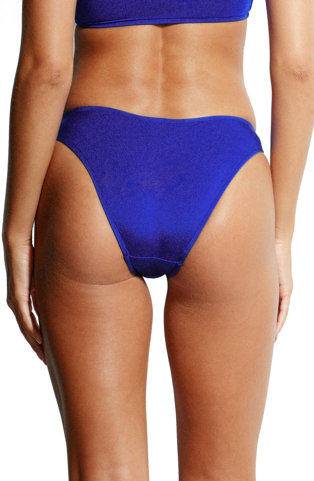 Pheonix High Leg Bikini Bottoms,                             Alternate thumbnail 2, color,                             BLUE RAY
