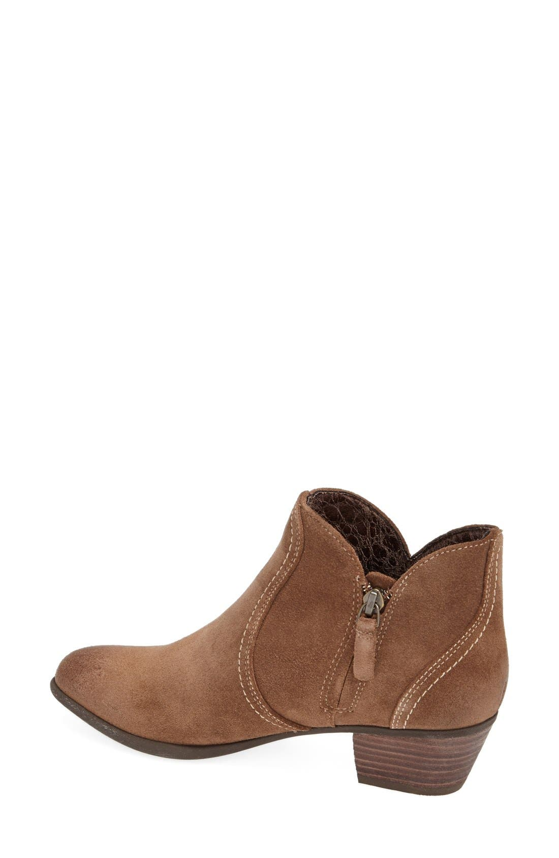'Astor' Suede Ankle Bootie,                             Alternate thumbnail 4, color,                             201