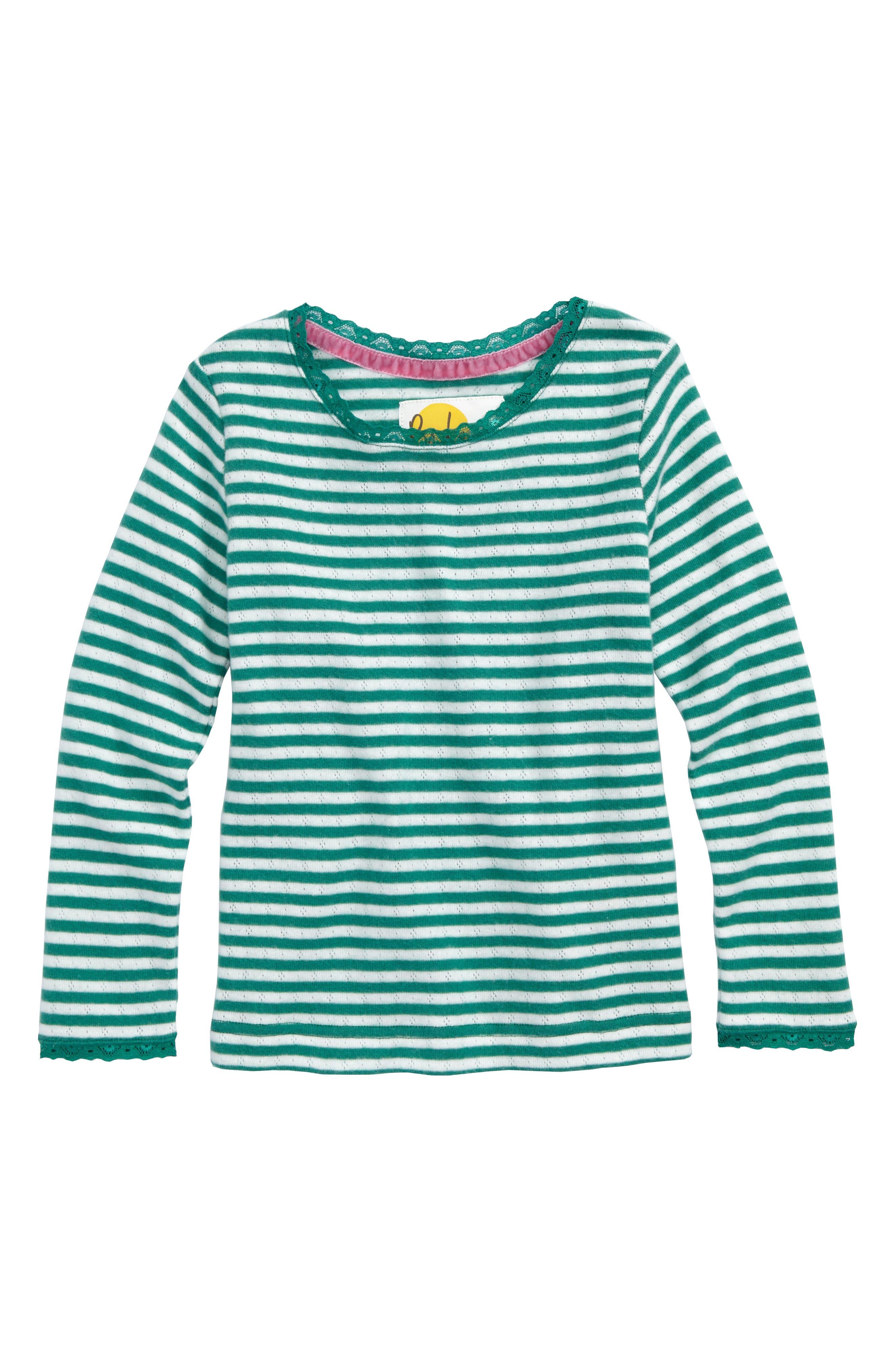 Soft Stripe Pointelle Tee,                         Main,                         color, 315