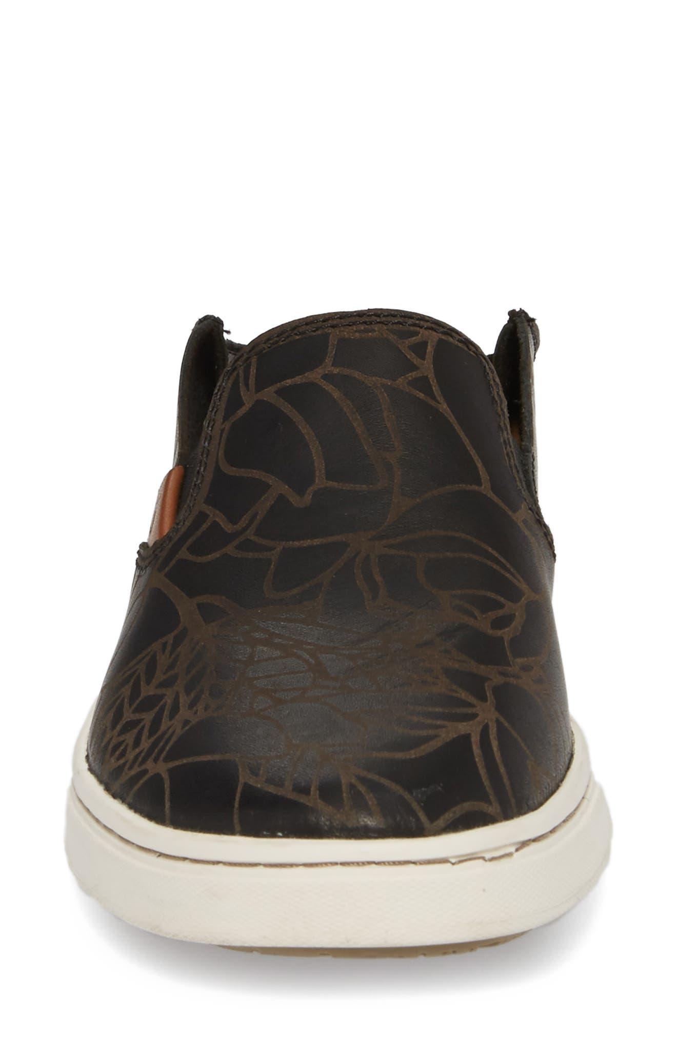 Pehuea Lau Slip-On Sneaker,                             Alternate thumbnail 5, color,                             BLACK/ BLACK FABRIC